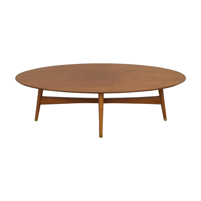 West Elm West Elm Reeve Mid Century Oval Coffee Table