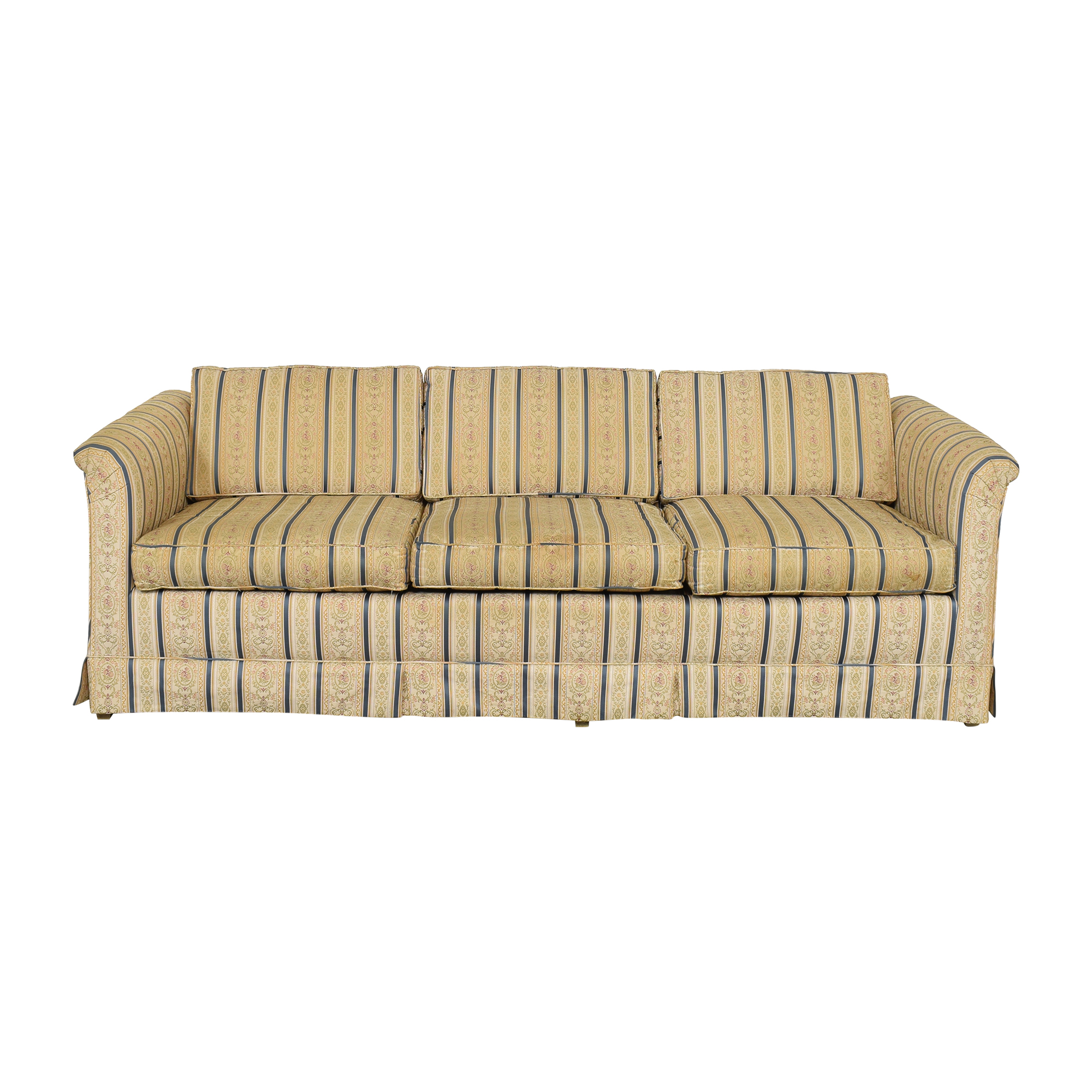 Striped Three Cushion Sofa multi