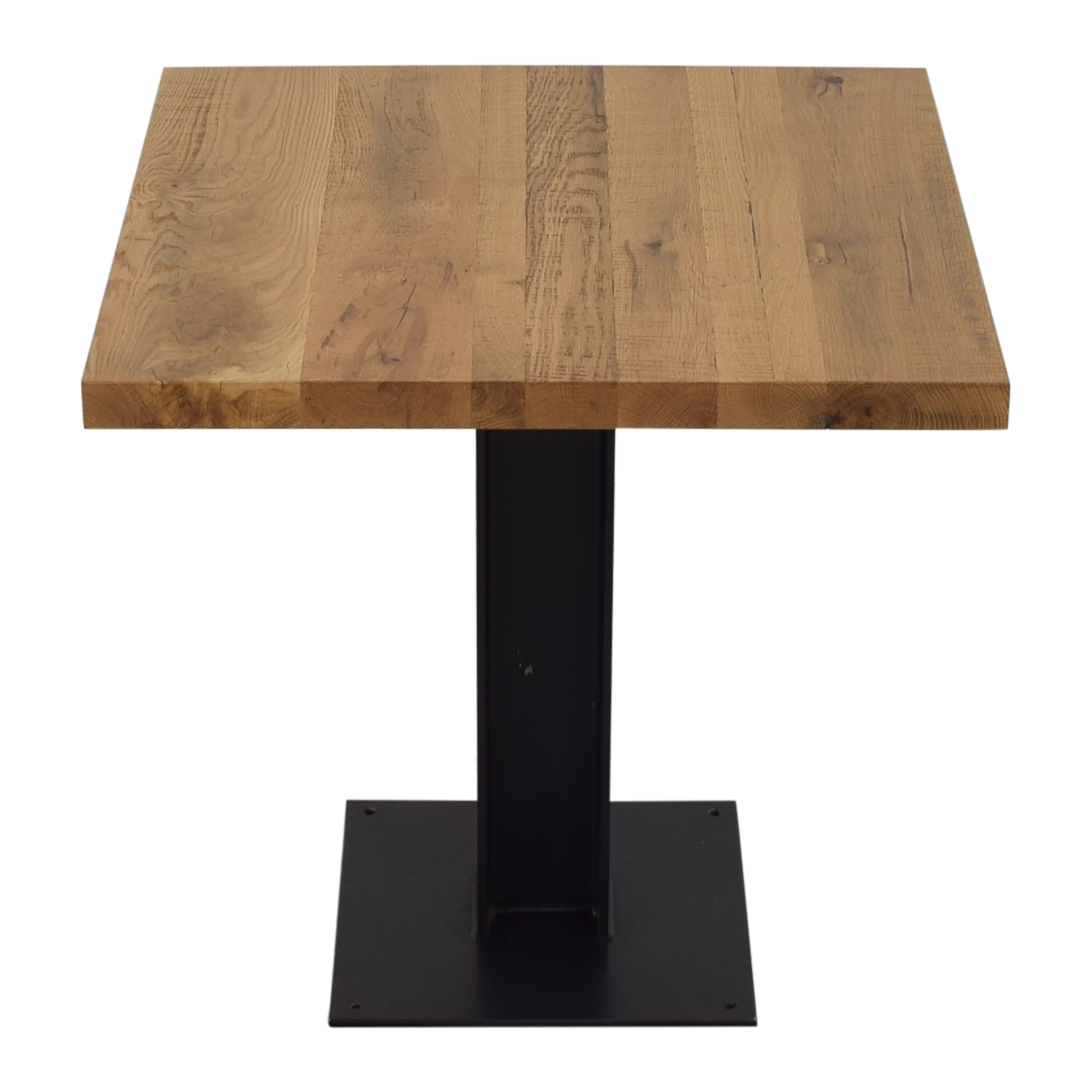 Crow Works Crow Works Fixed I-Beam Square Table brown & black