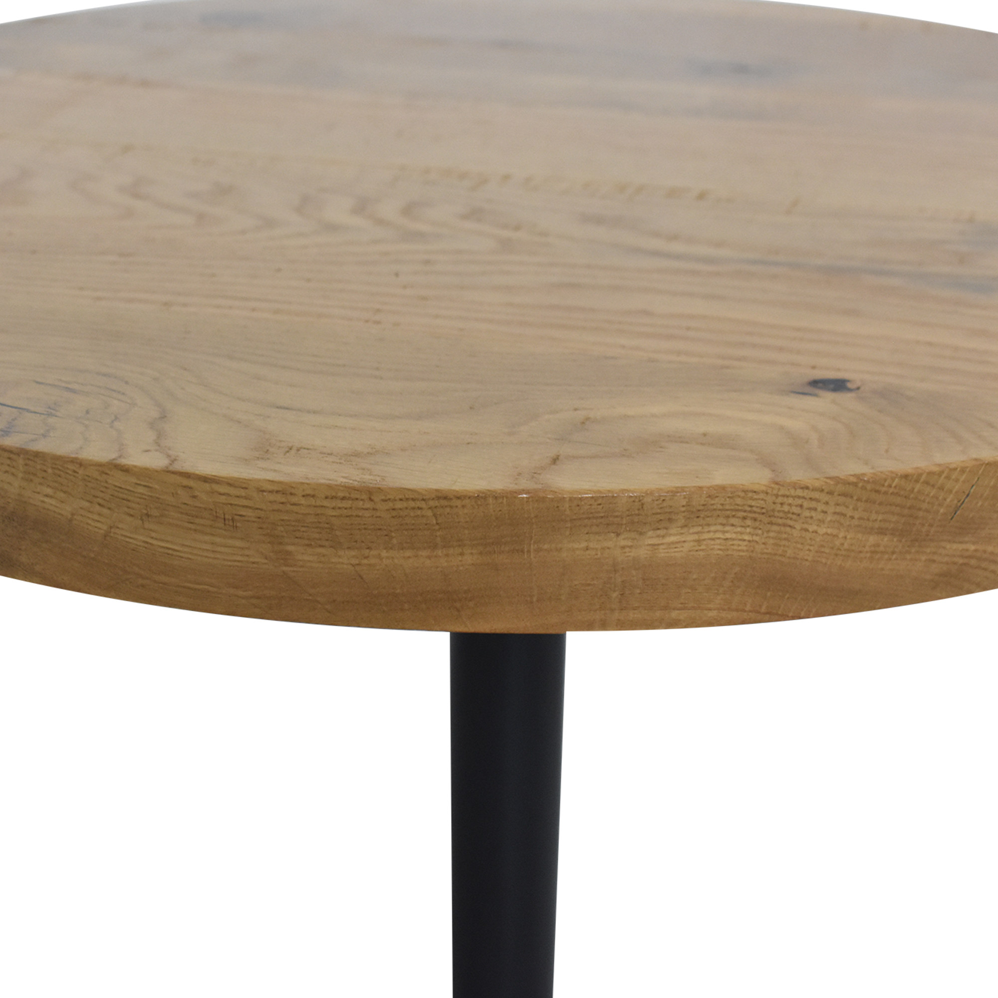 Crow Works Crow Works Round Base Table brown & black