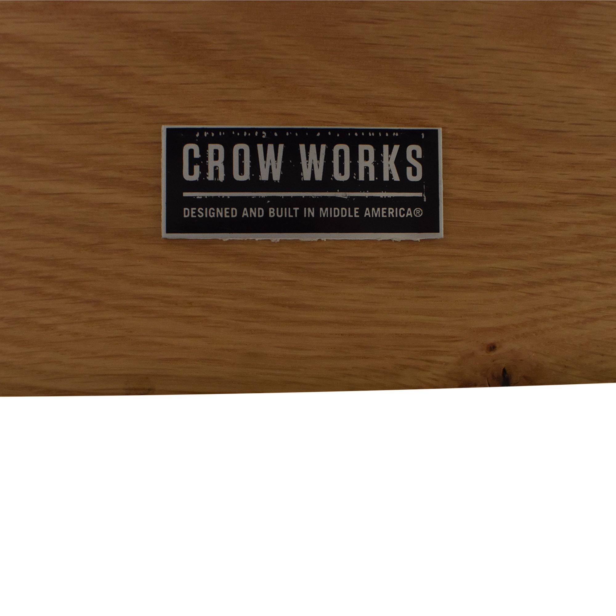 buy Crow Works Fixed I-Beam Square Table Crow Works Tables