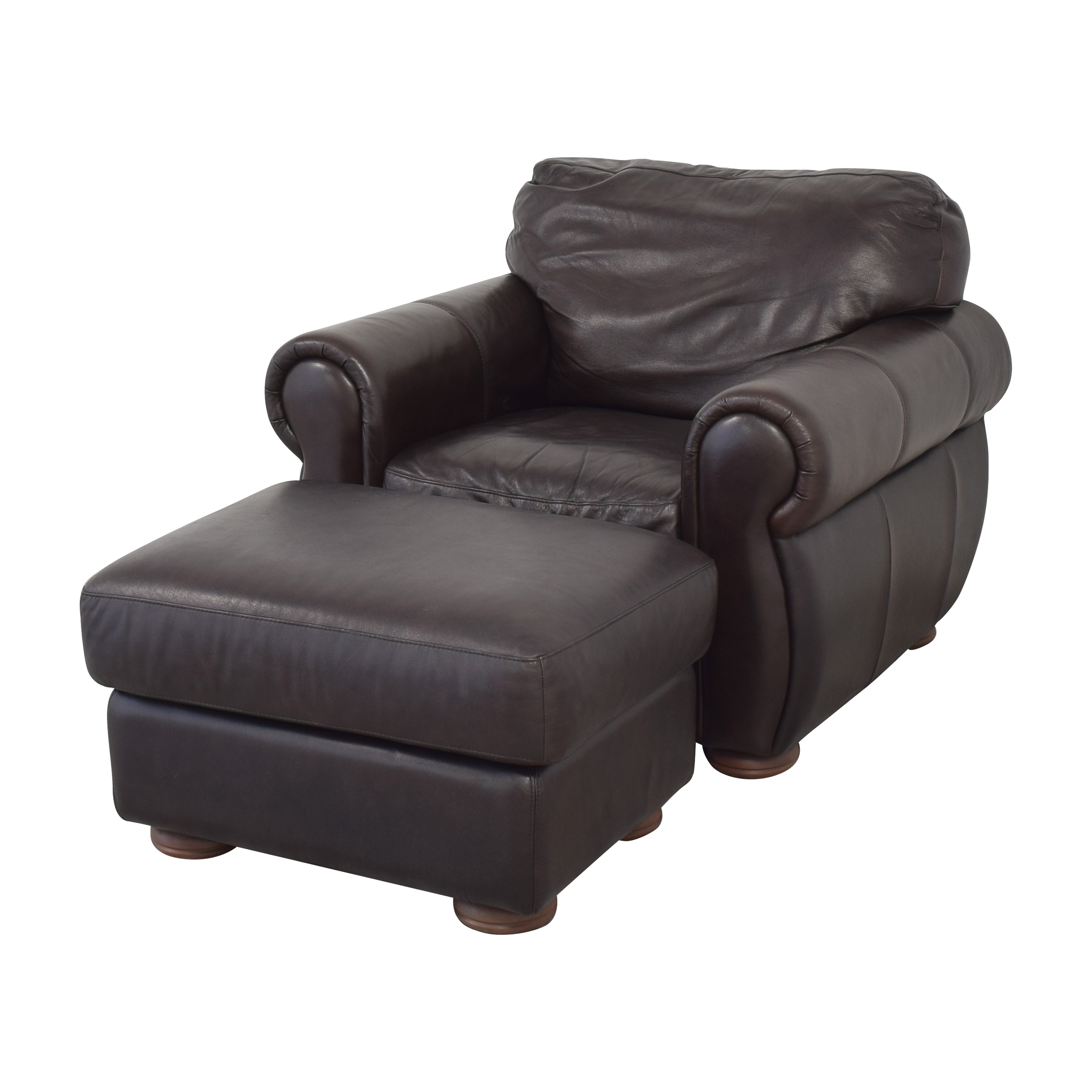 shop Raymour & Flanigan Marsala Chair with Ottoman Raymour & Flanigan Accent Chairs