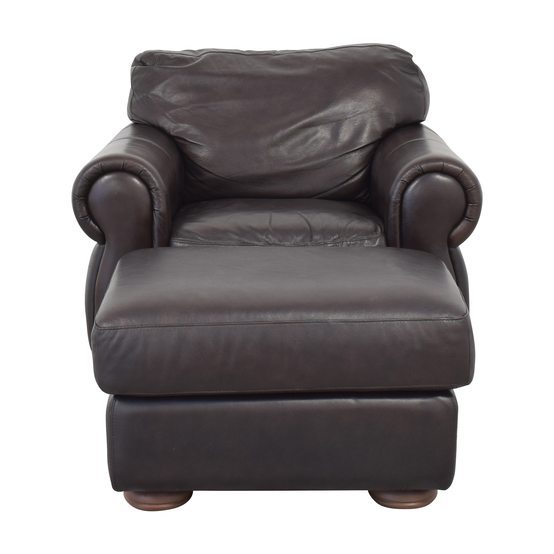 shop Raymour & Flanigan Marsala Chair with Ottoman Raymour & Flanigan Chairs