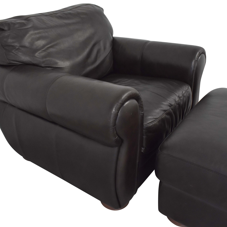 Raymour & Flanigan Raymour & Flanigan Marsala Chair with Ottoman discount