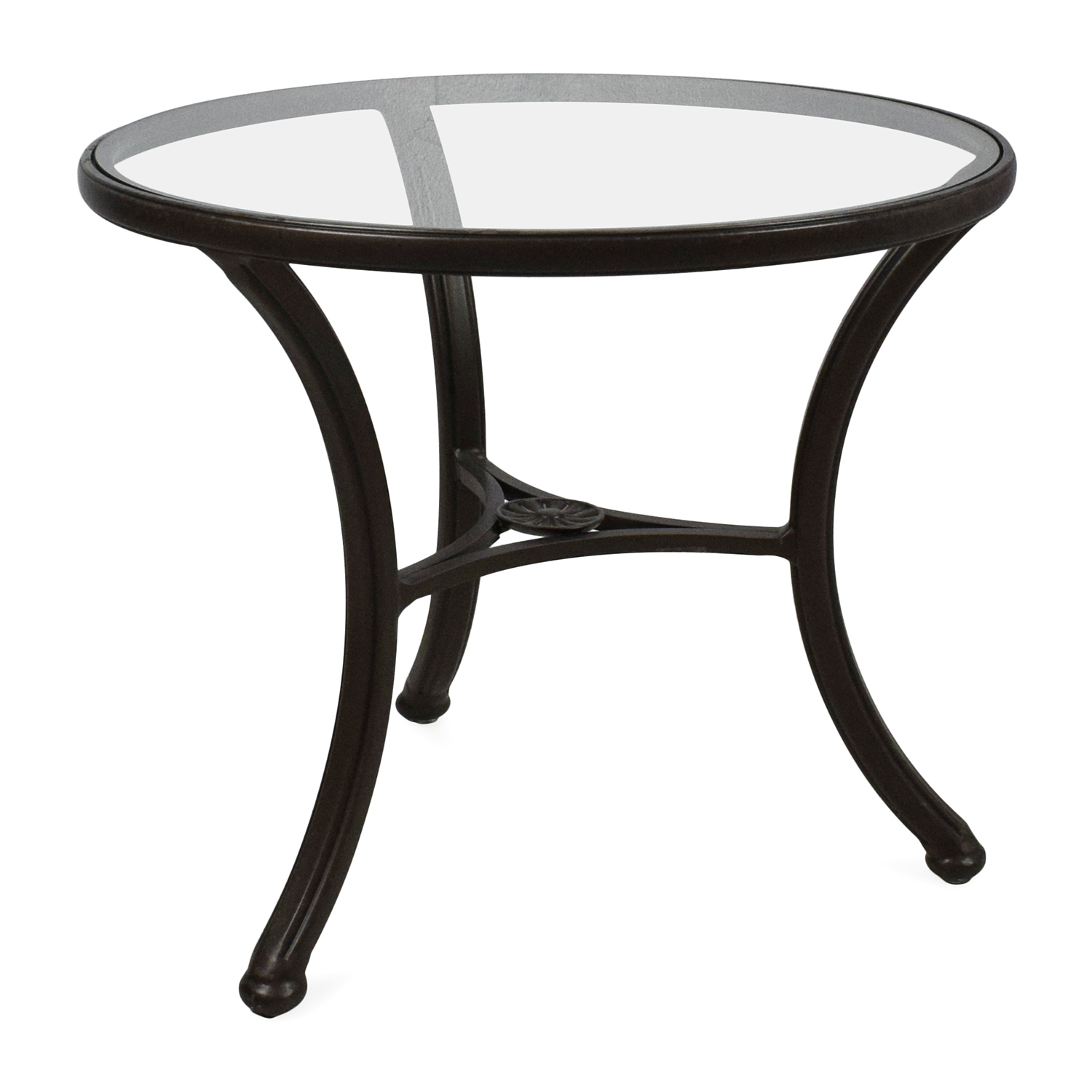 83 off ethan allen ethan allen glass side table tables