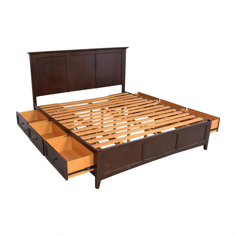 Raymour & Flanigan Raymour & Flanigan Westlake King Storage Platform Bed for sale
