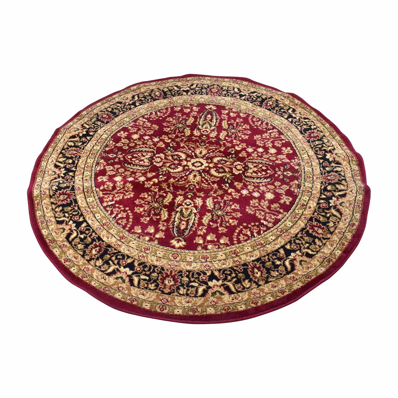 Safavieh Safavieh Lyndhurst Red&Black Round Rug Decor
