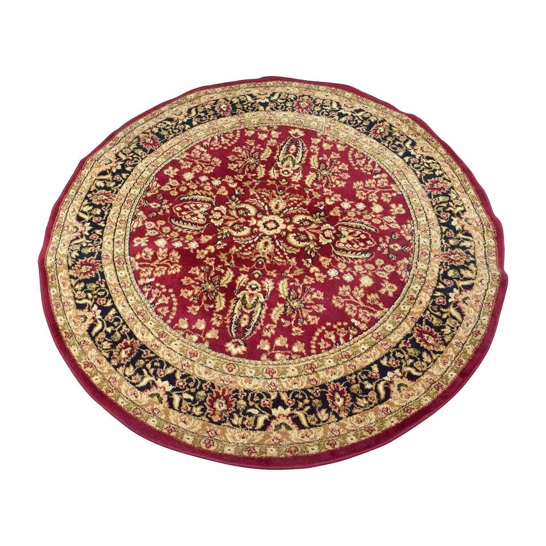 Safavieh Safavieh Lyndhurst Red&Black Round Rug for sale