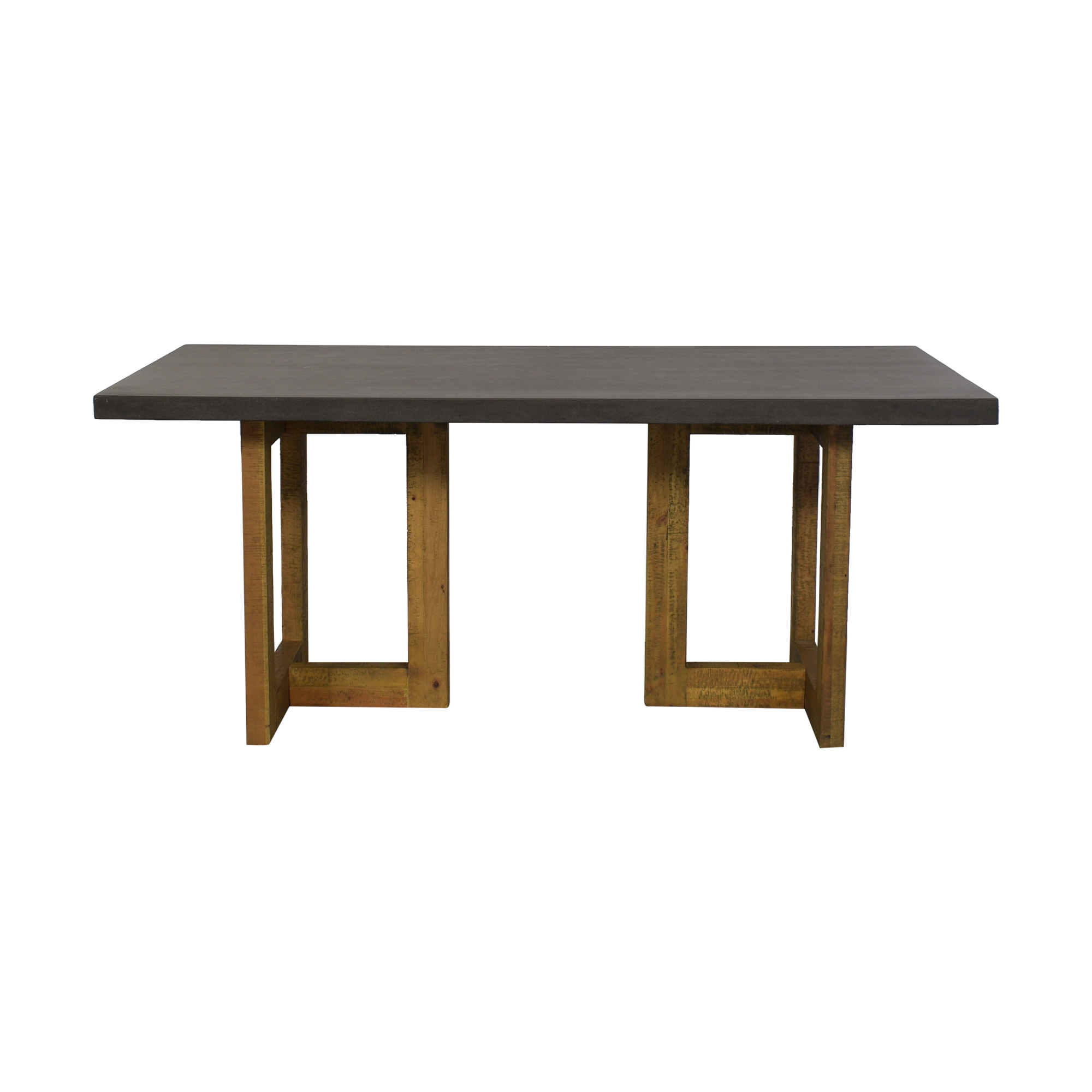 West Elm West Elm Ashton Lava Top Dining Table discount