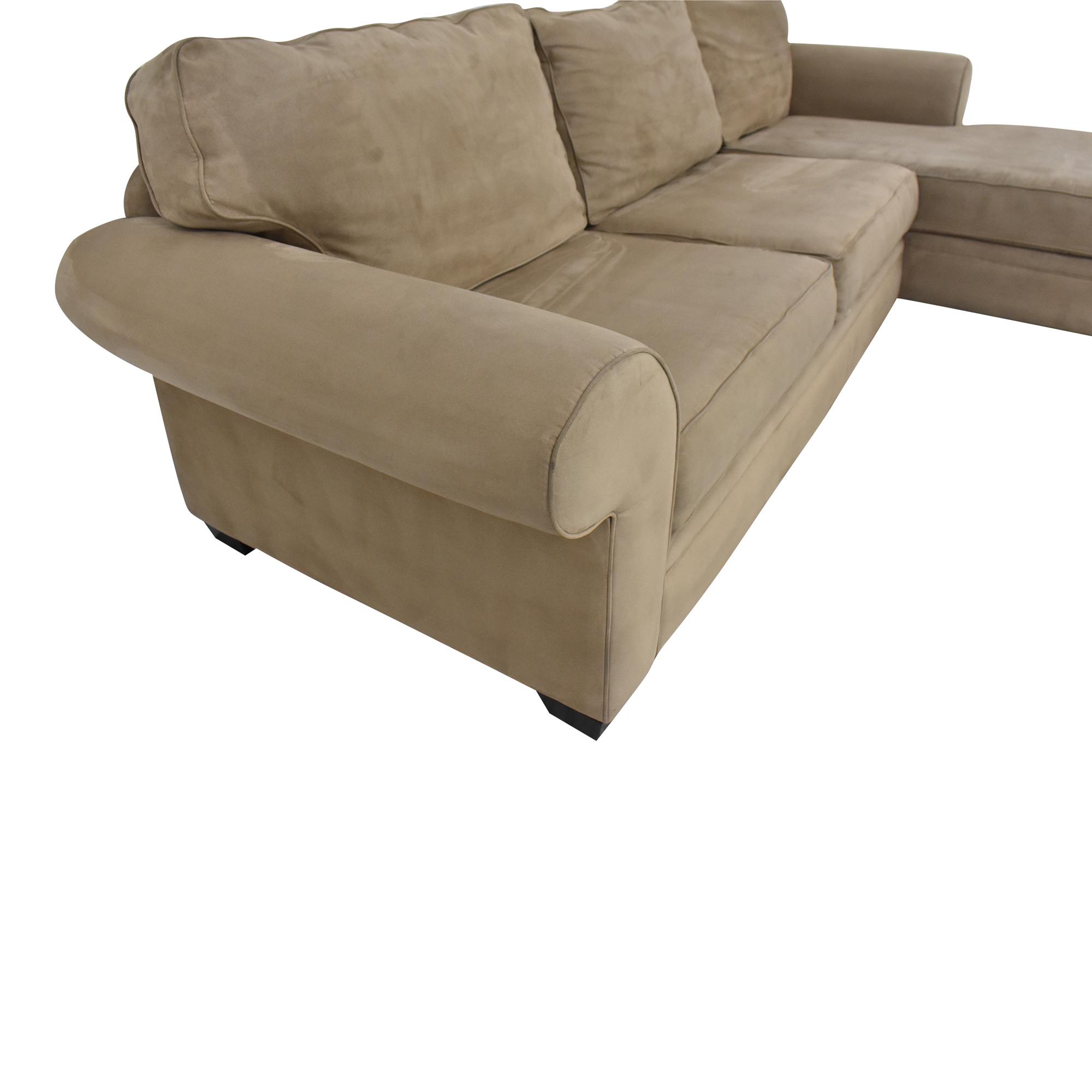 Macy's Jonathan Louis Chaise Sectional Sofa pa