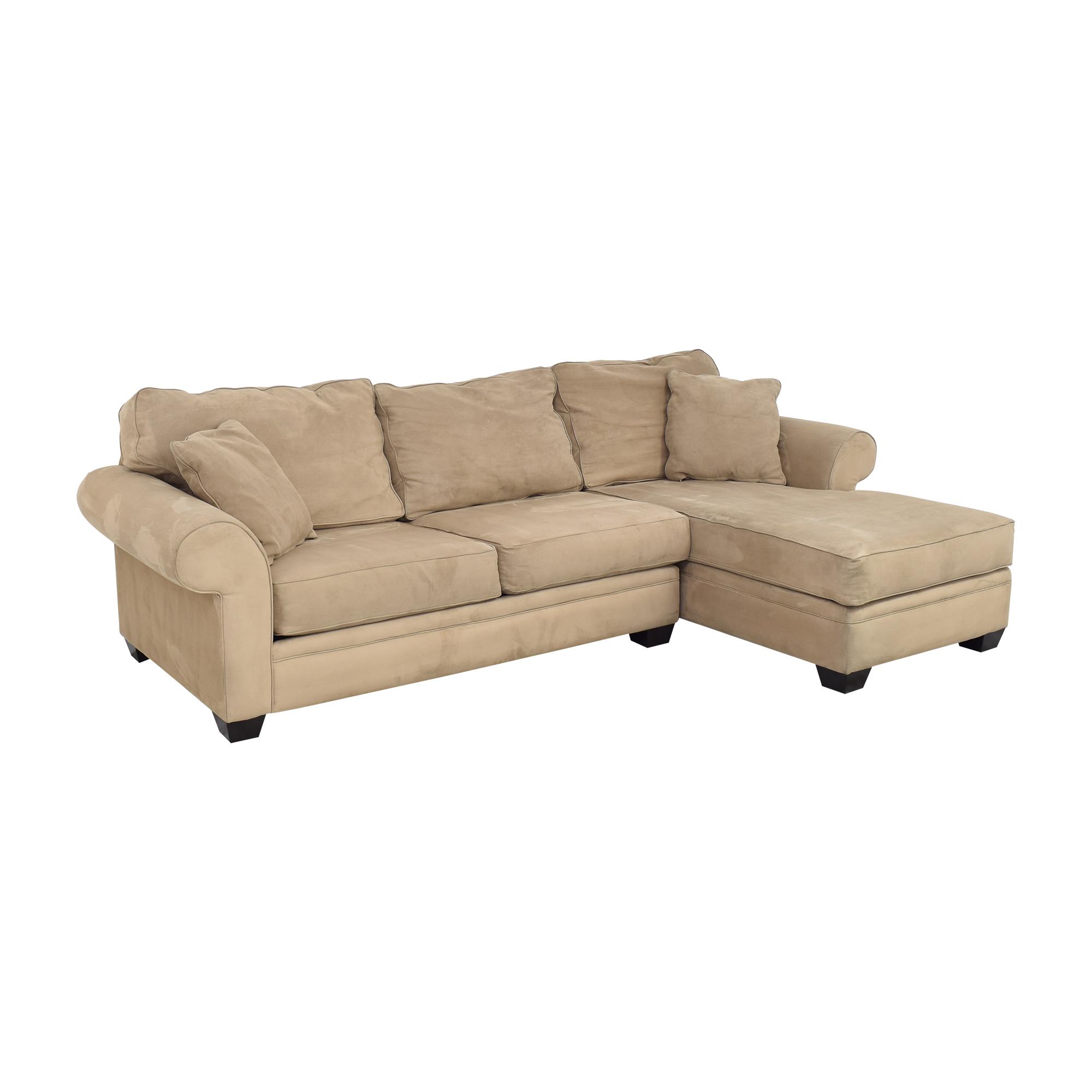 shop Jonathan Louis Chaise Sectional Sofa Macy's