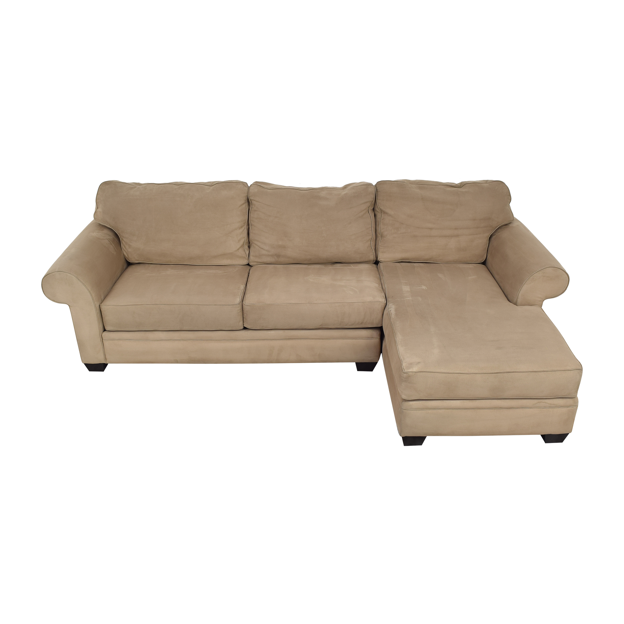 Macy's Jonathan Louis Chaise Sectional Sofa for sale