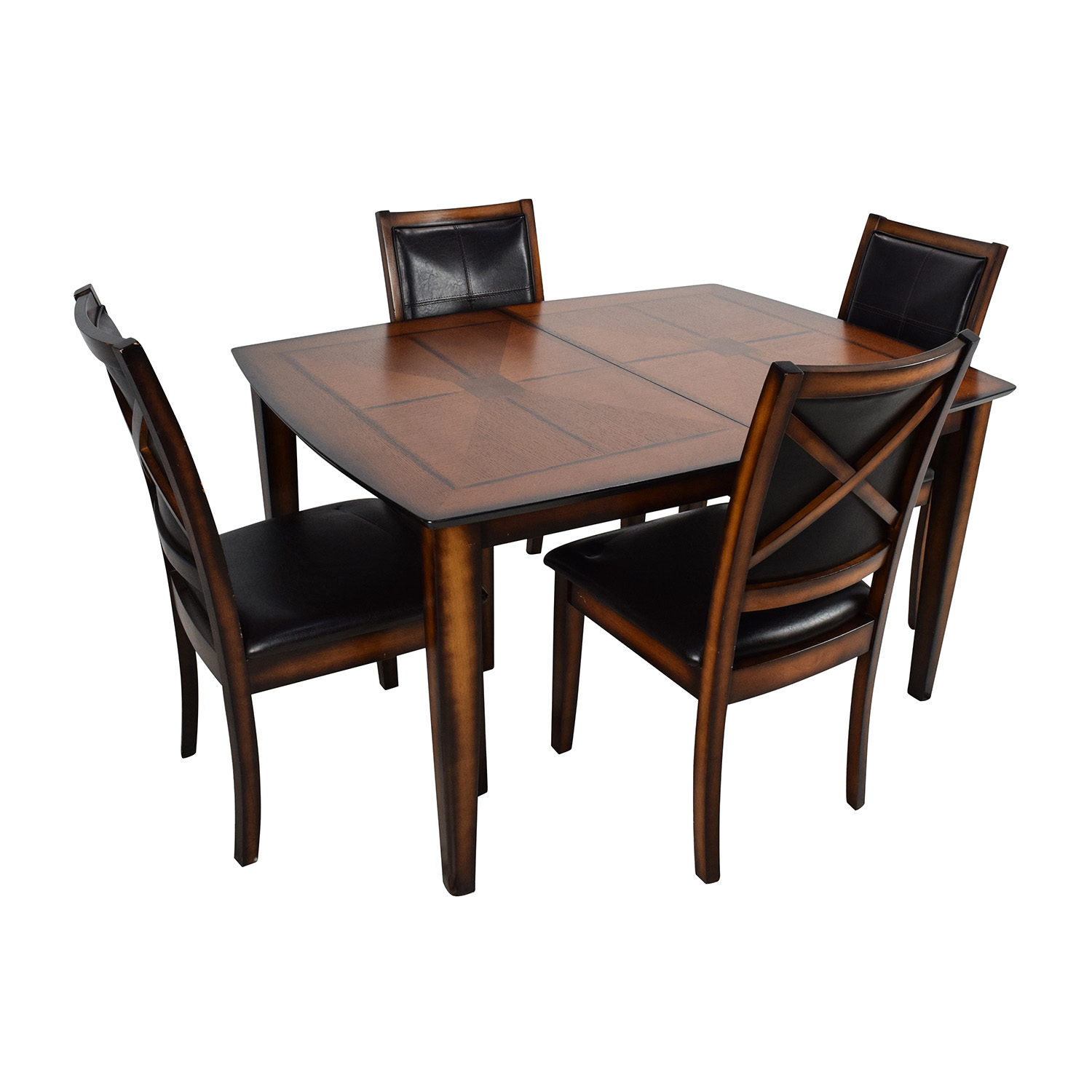 Raymour and Flanigan Raymour u0026 Flanigan Denver 5-Piece Extendable Dining Set price ...  sc 1 st  Furnishare & 59% OFF - Raymour and Flanigan Raymour u0026 Flanigan Denver 5-Piece ...