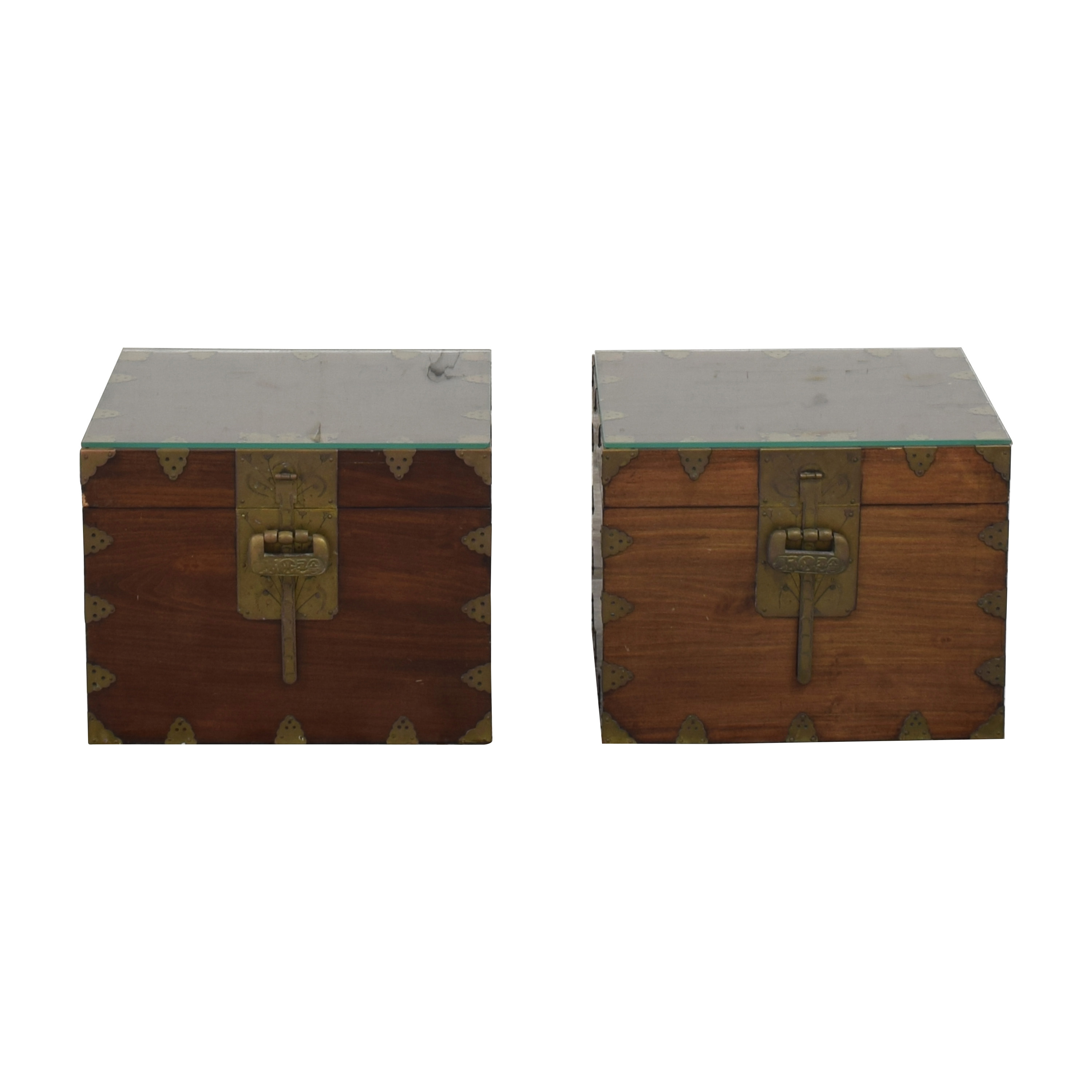 Vintage Trunk Style Side Tables pa