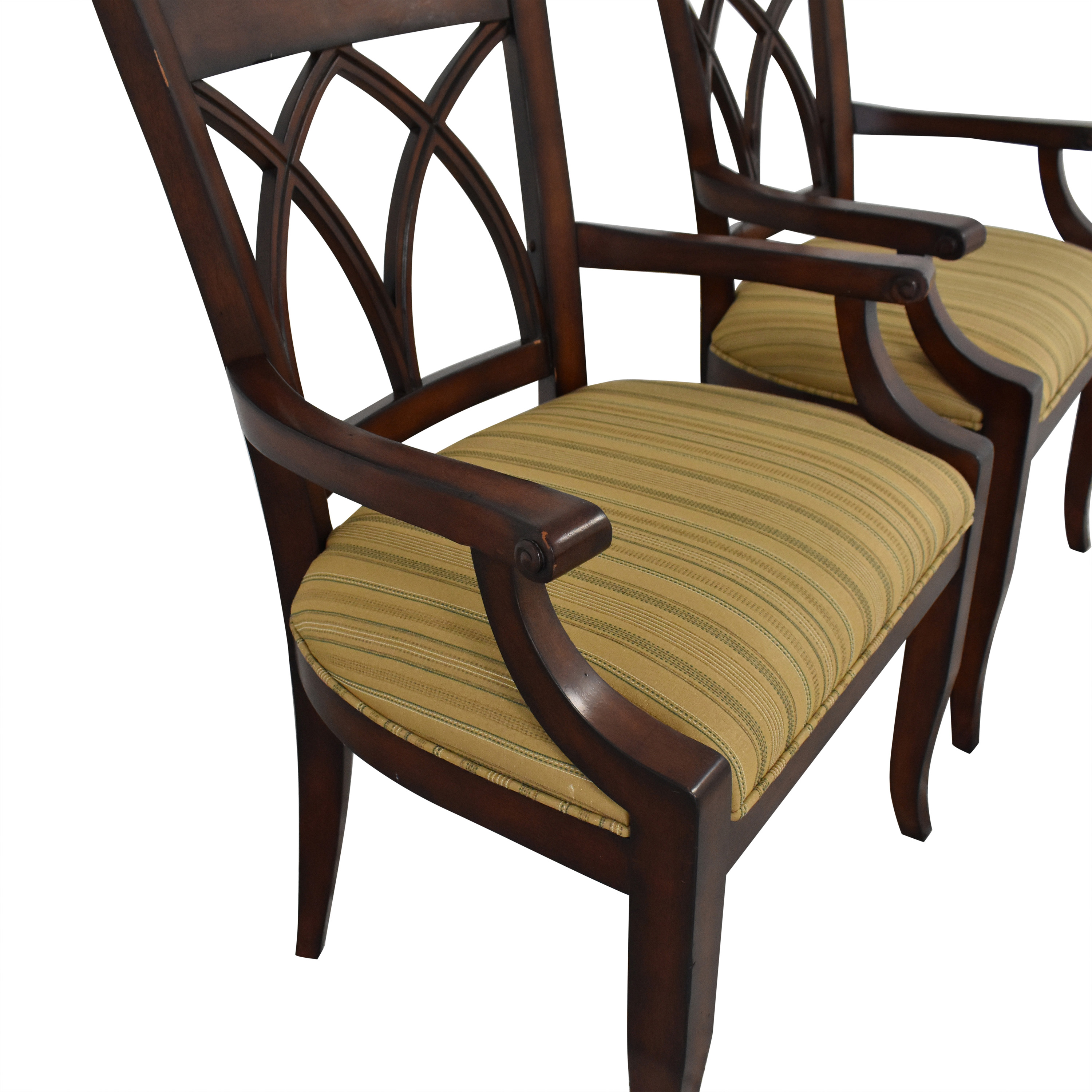 Bernhardt Upholstered Seat Armchairs / Dining Chairs