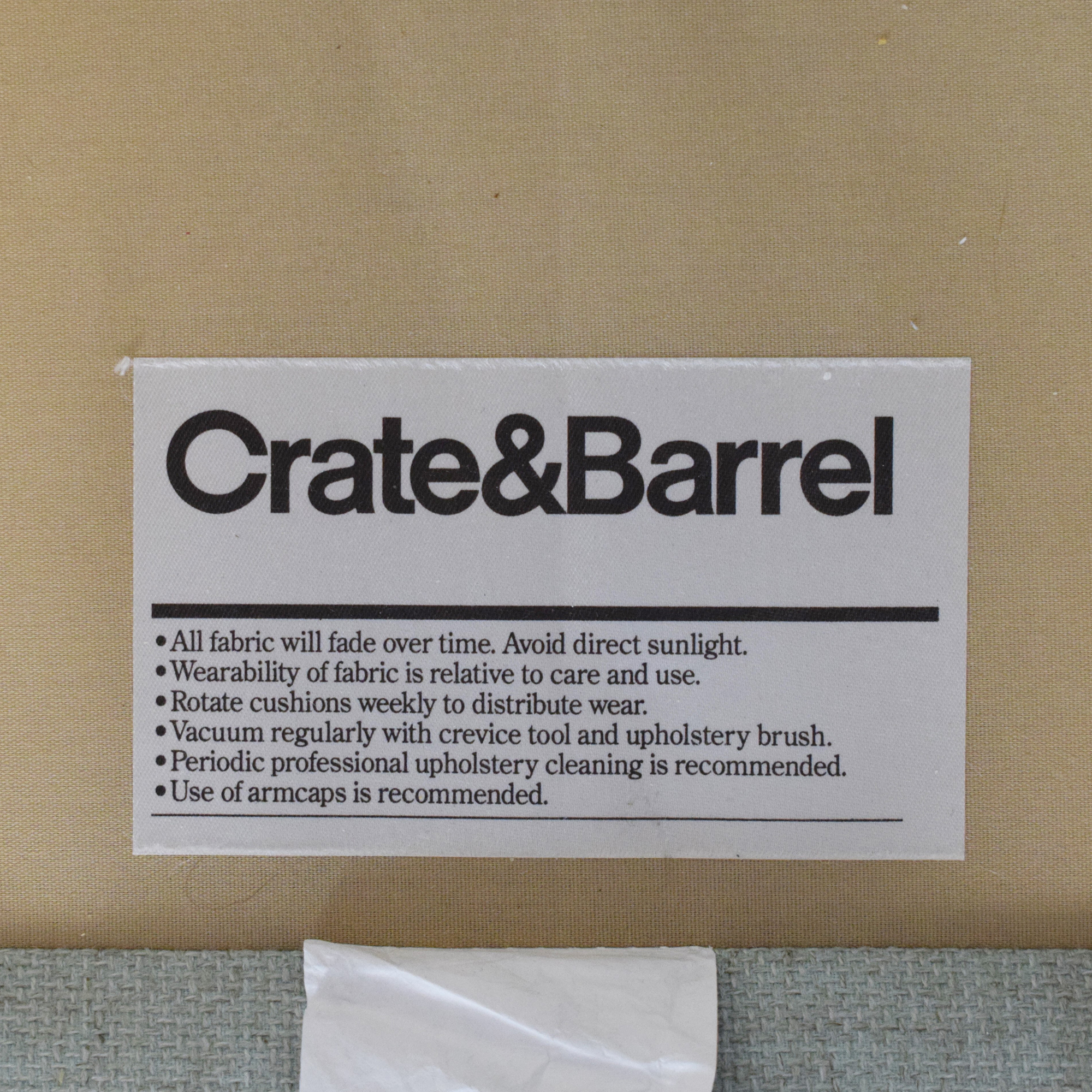 Crate & Barrel Crate & Barrel Slipcovered Accent Chair nyc