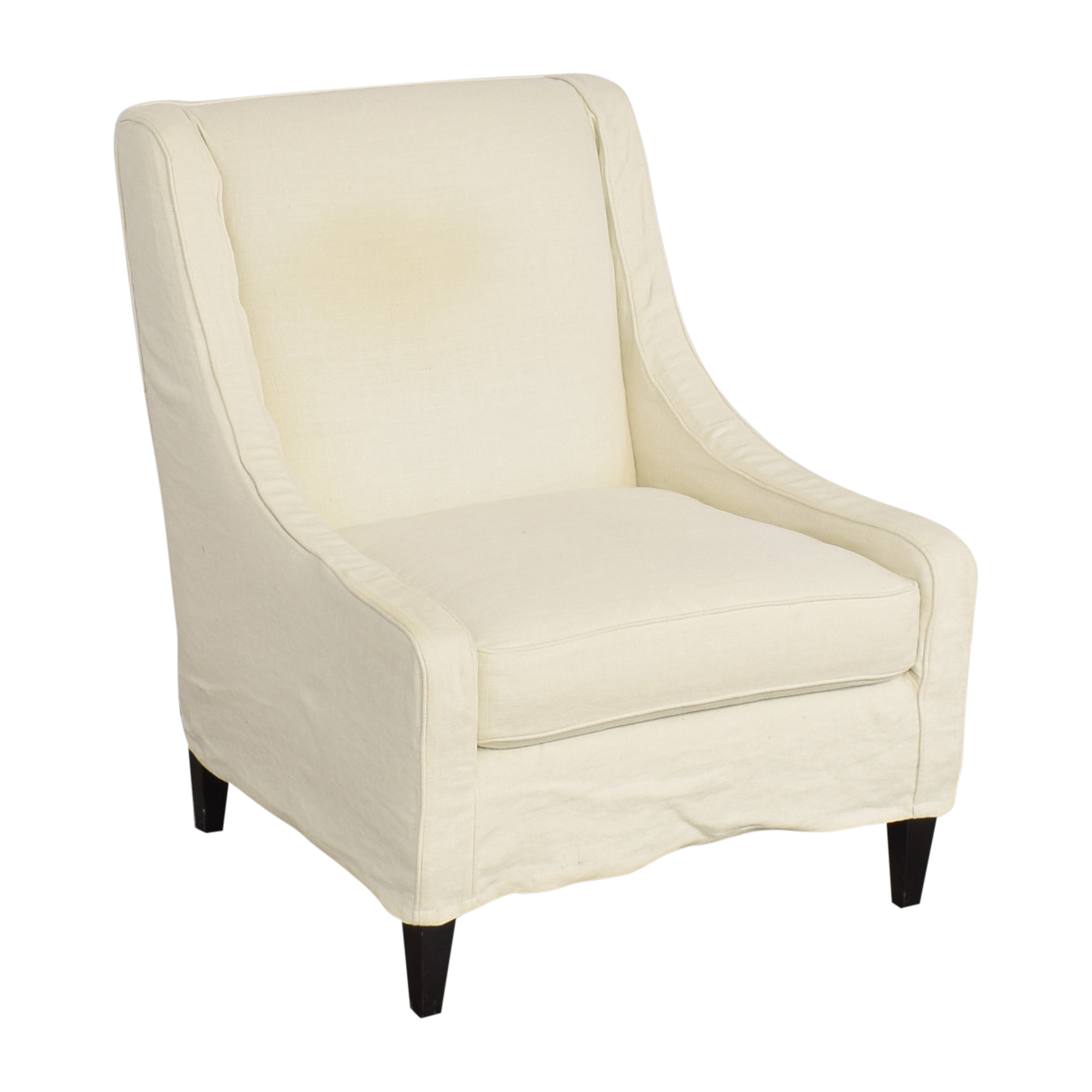 Crate & Barrel Slipcovered Accent Chair Crate & Barrel