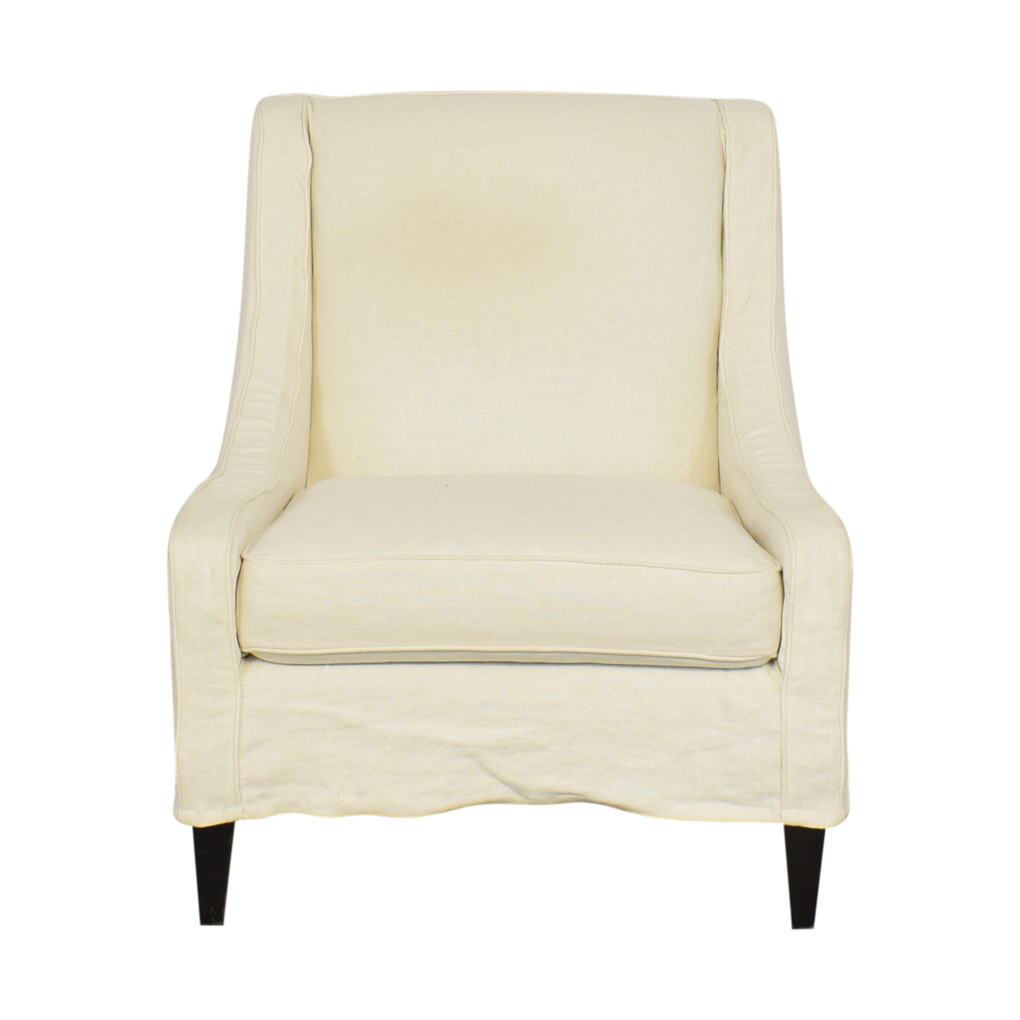 Crate & Barrel Crate & Barrel Slipcovered Accent Chair on sale