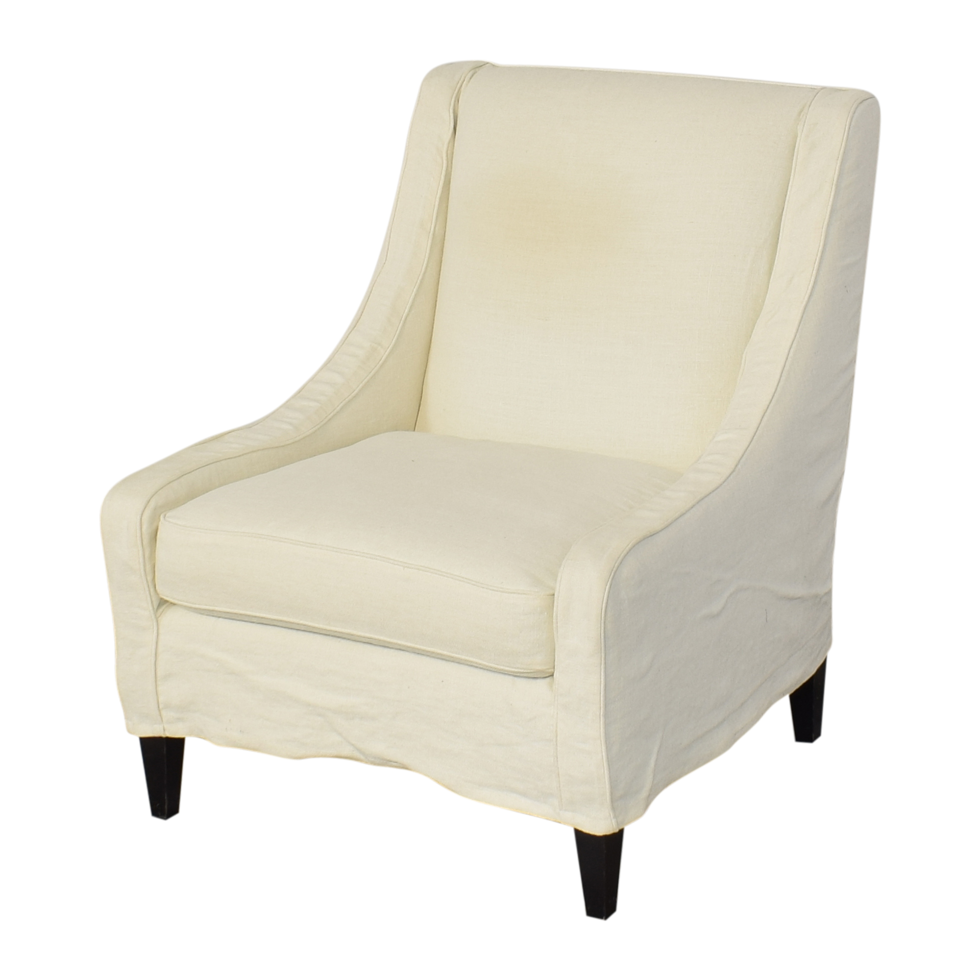 shop Crate & Barrel Slipcovered Accent Chair Crate & Barrel Chairs