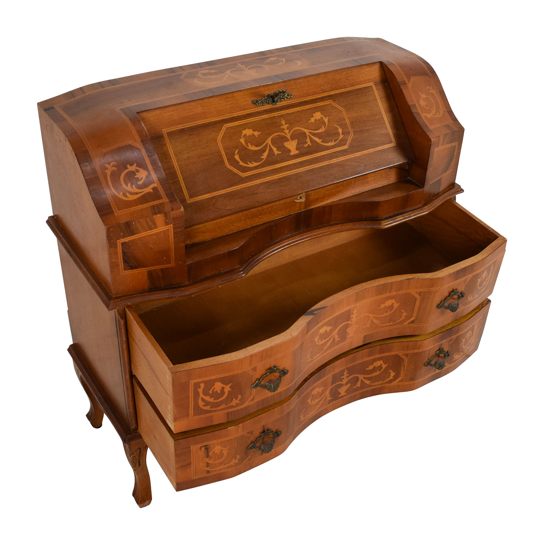 65 Off Antique Wooden Secretary Desk Tables