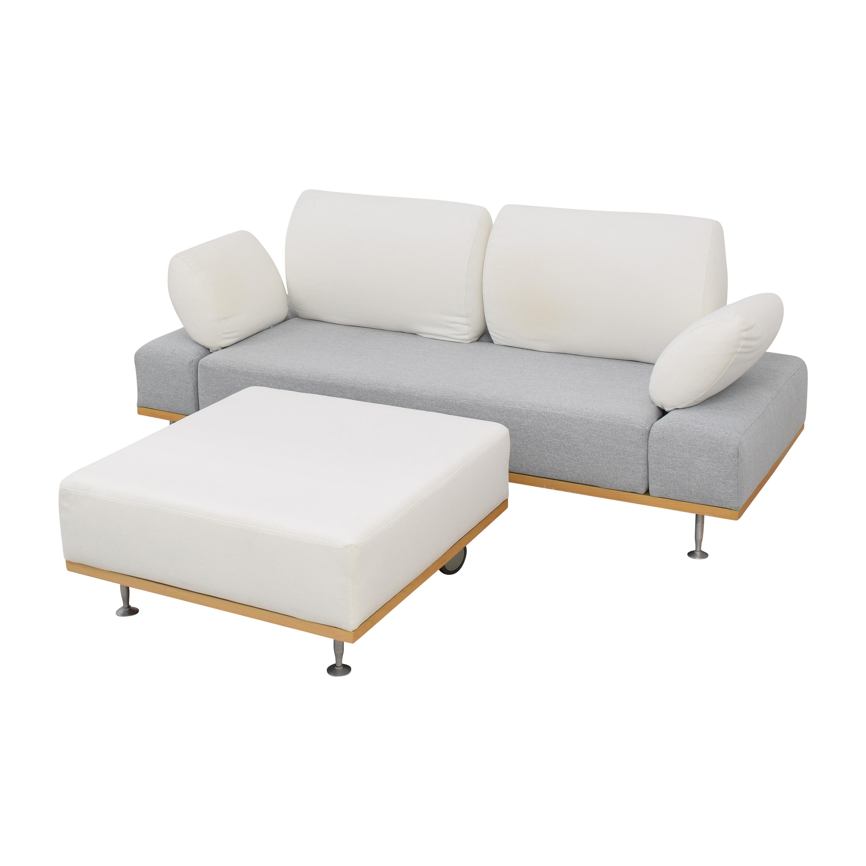 shop Bonaldo Modern Sofa with Ottoman Bonaldo Sofas