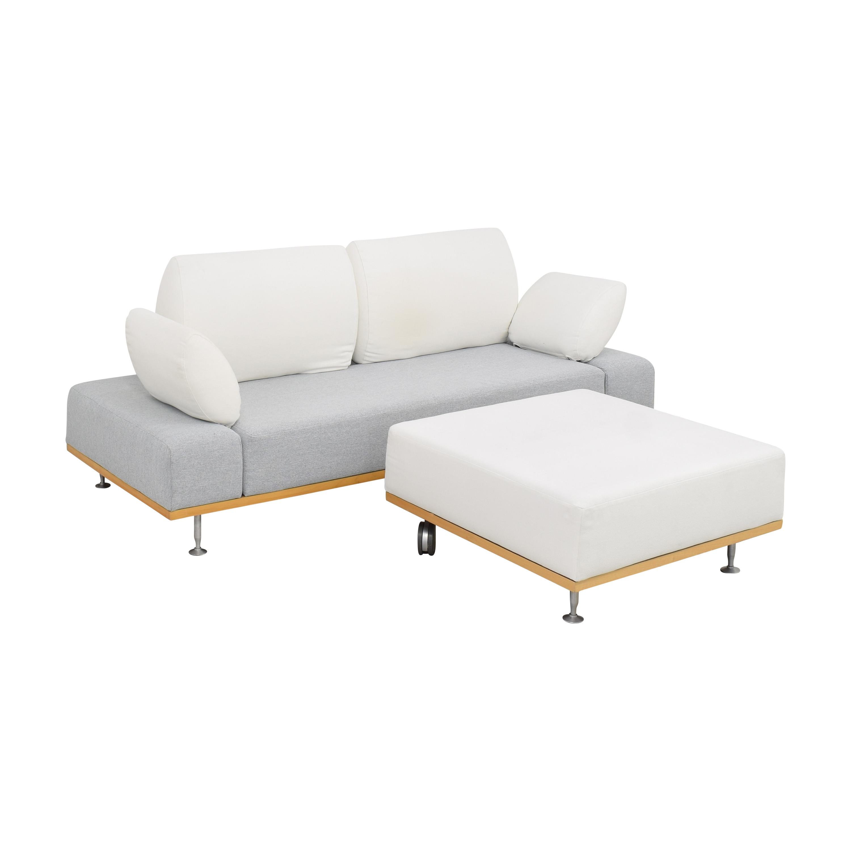 buy Bonaldo Modern Sofa with Ottoman Bonaldo Sofas