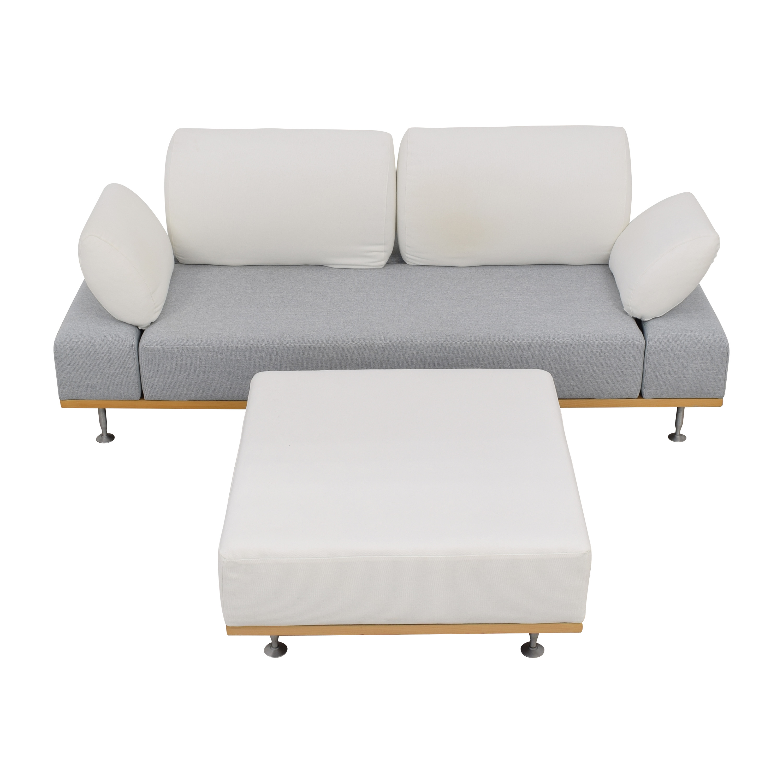 Bonaldo Bonaldo Modern Sofa with Ottoman ma