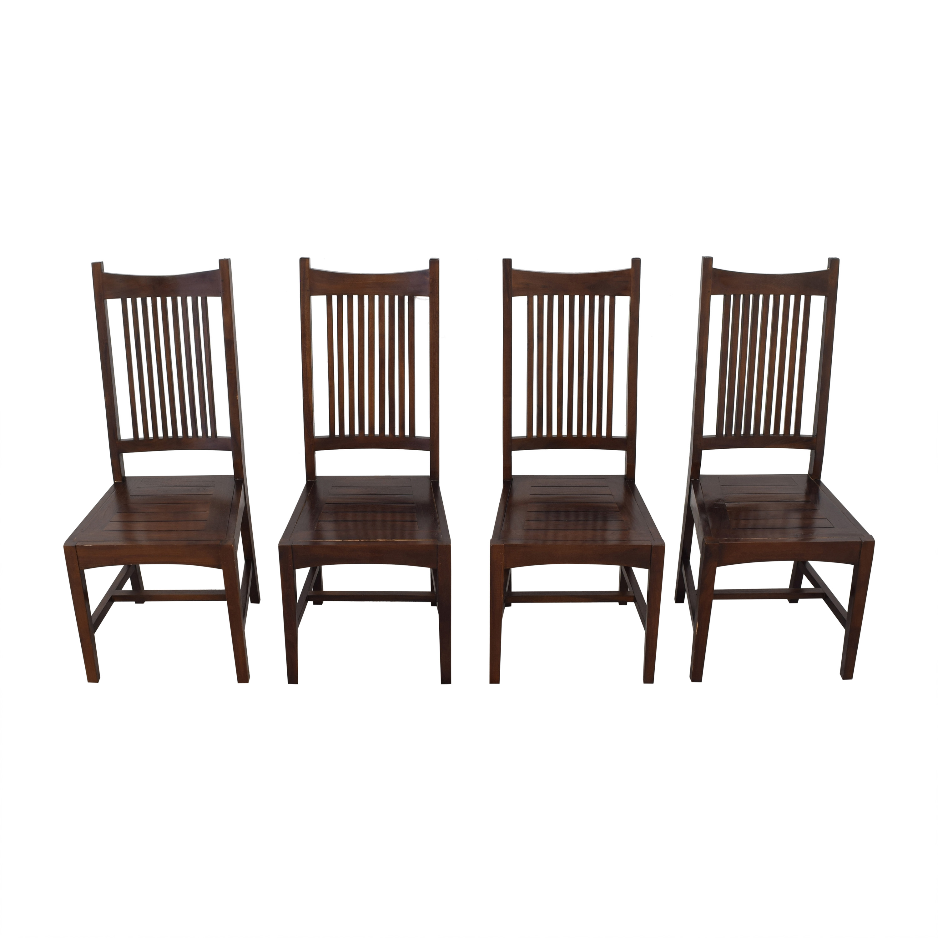High Back Dining Chairs brown