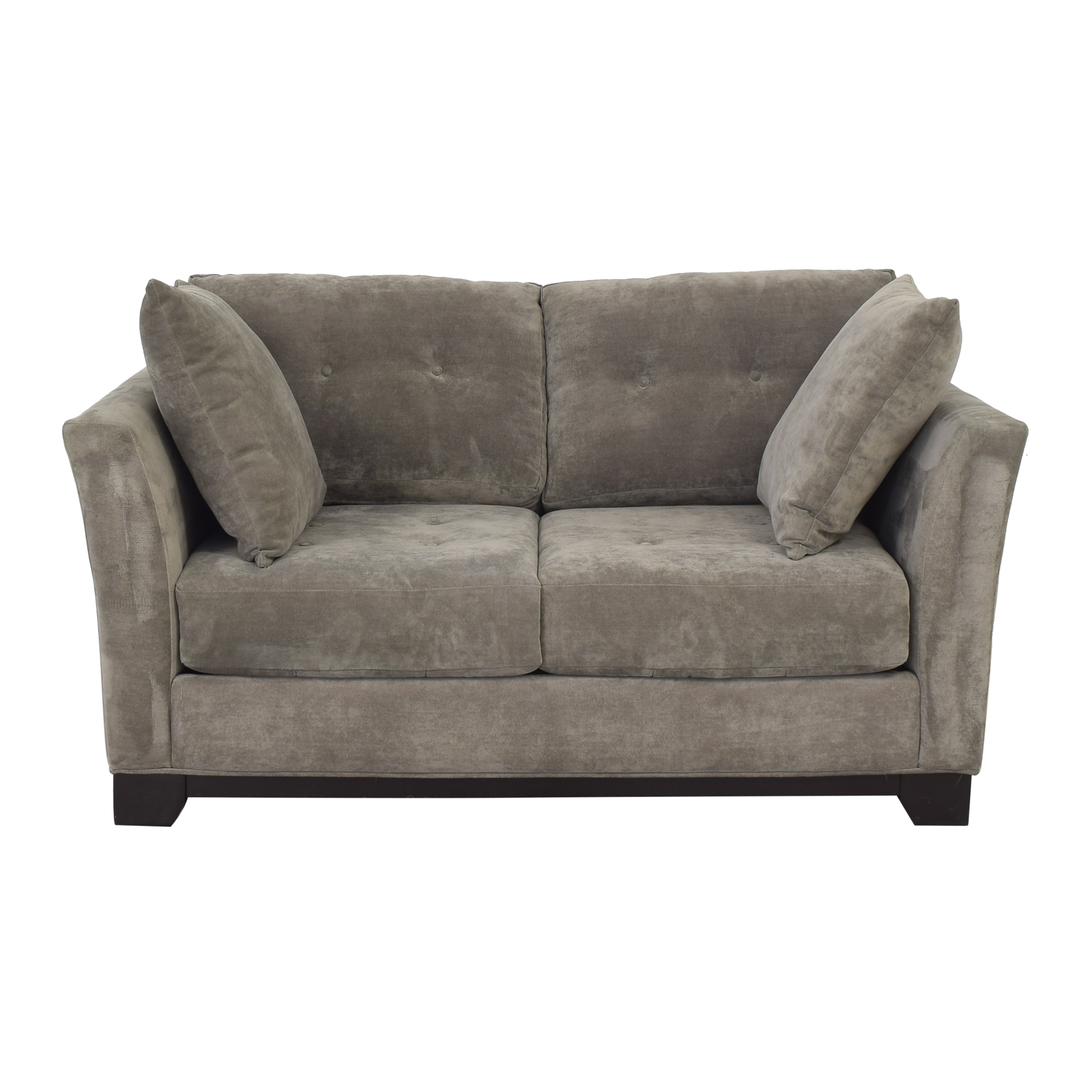 shop Macy's Elliot Tufted Loveseat Macy's