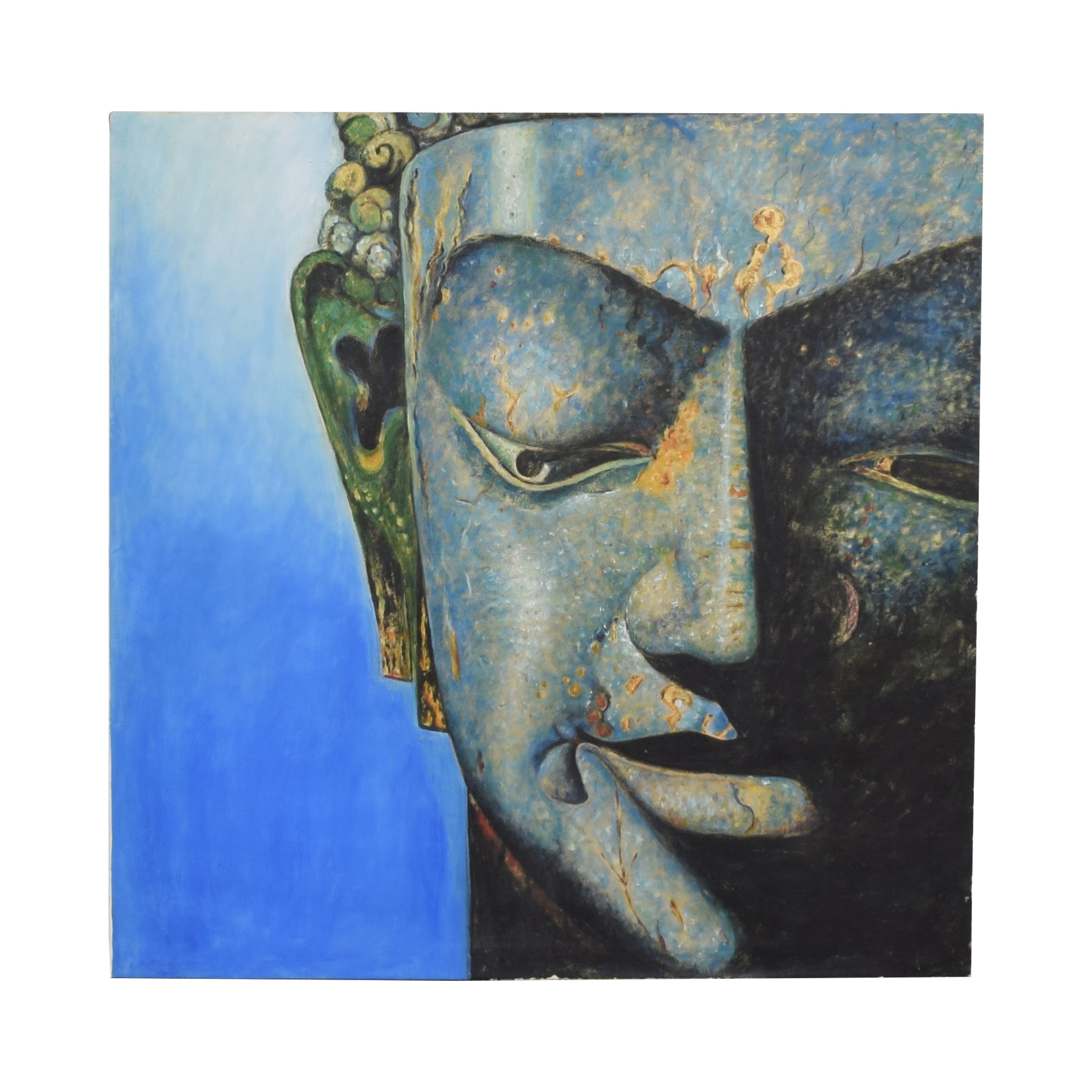 Blue Masked Face Wall Art on sale