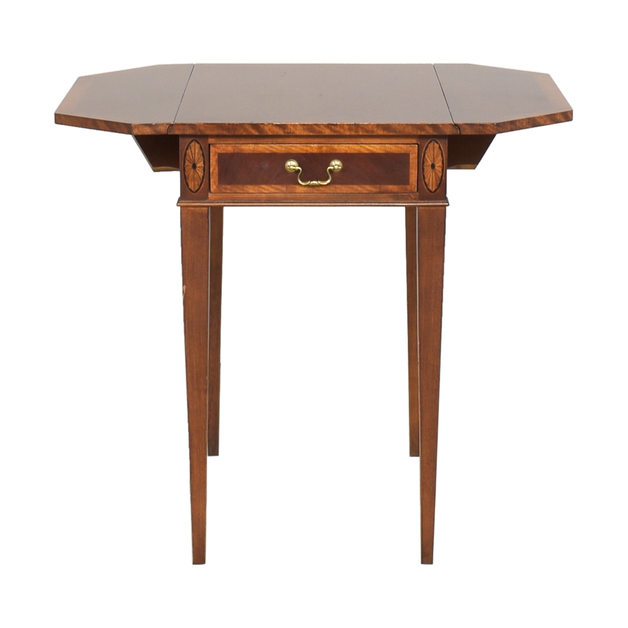 Henredon Furniture Henredon Drop Leaf Accent Table brown