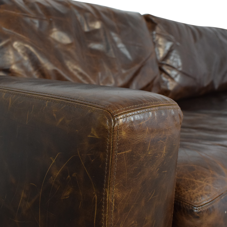 Restoration Hardware Restoration Hardware Maxwell Two Cushion Sofa second hand