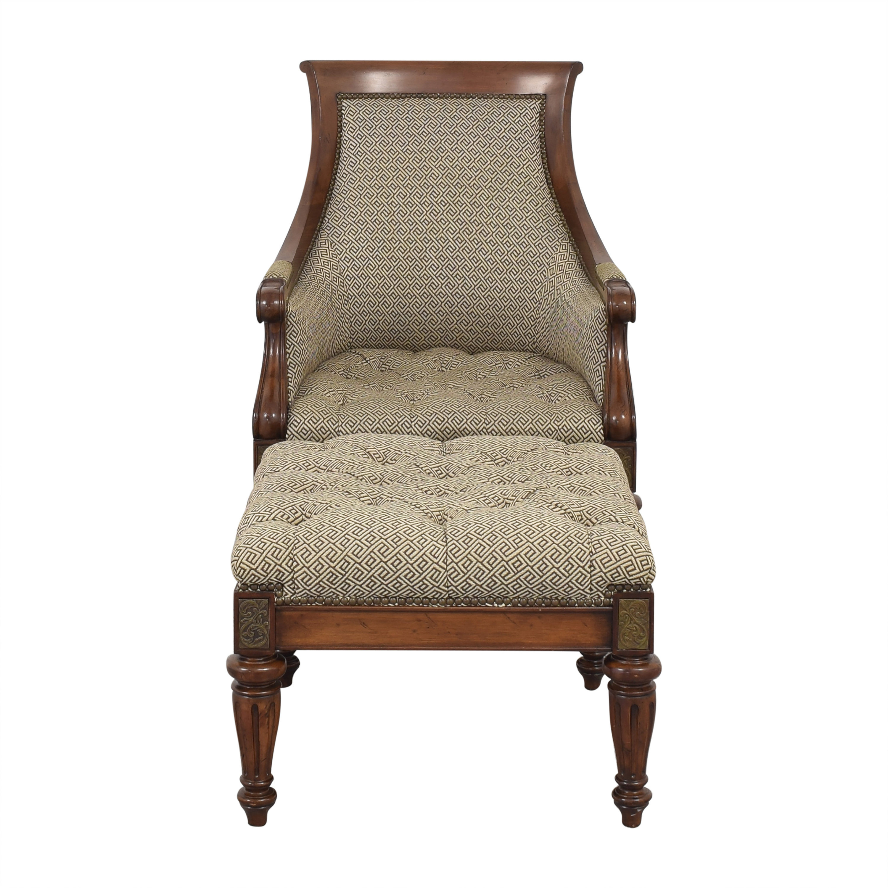 Thomasville Thomasville Accent Chair and Ottoman ma