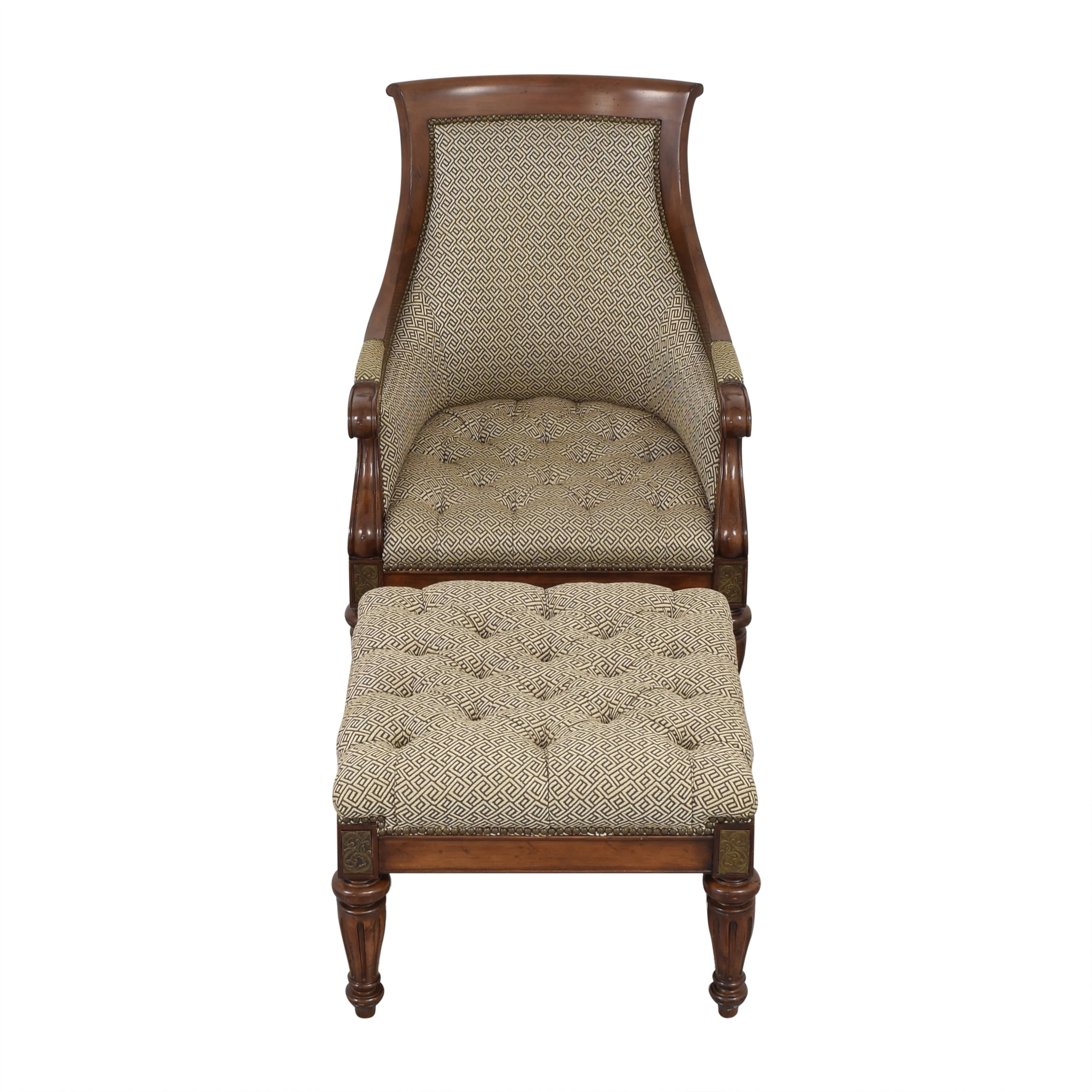buy Thomasville Thomasville Accent Chair and Ottoman online