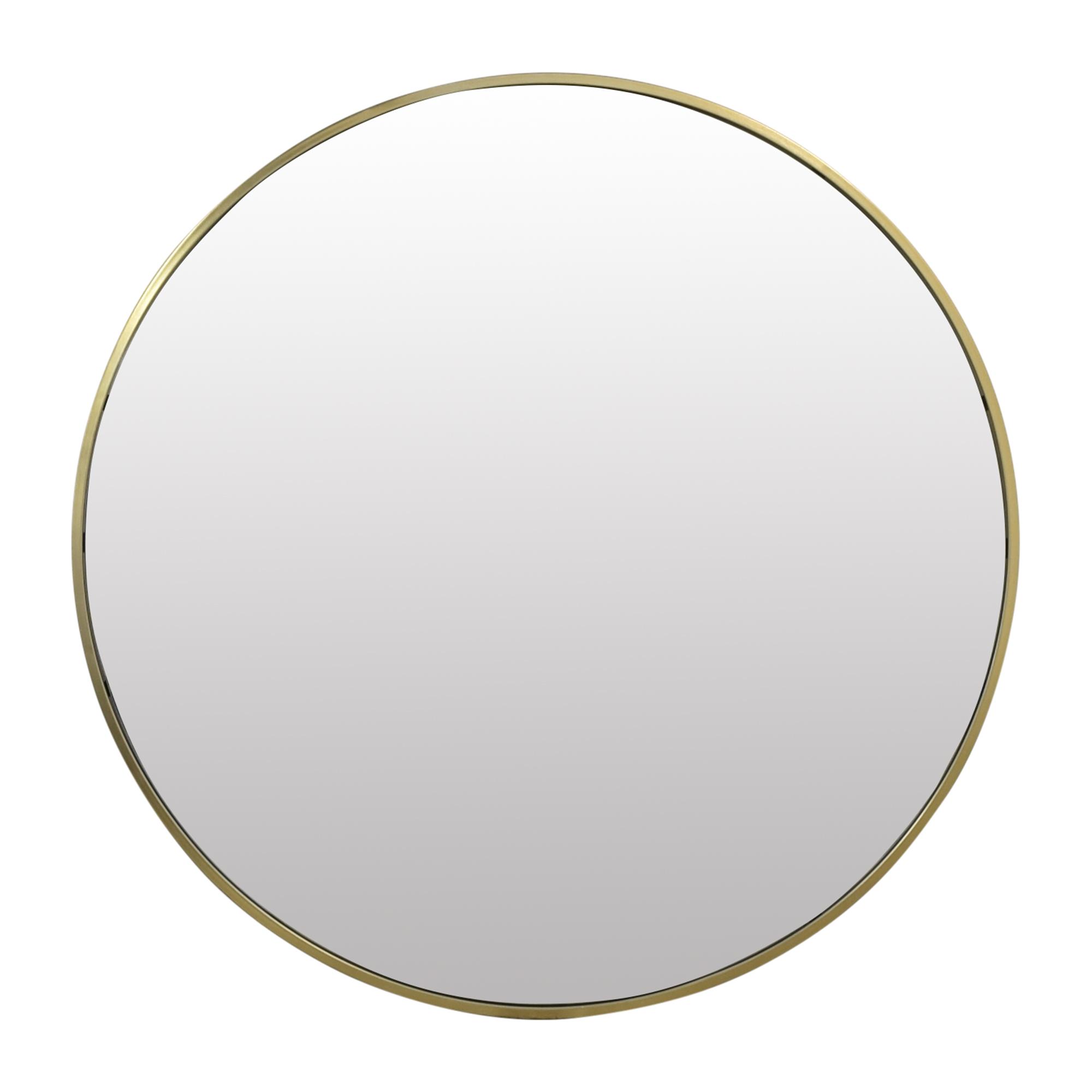 West Elm West Elm Metal Frame Oversized Round Mirror nj