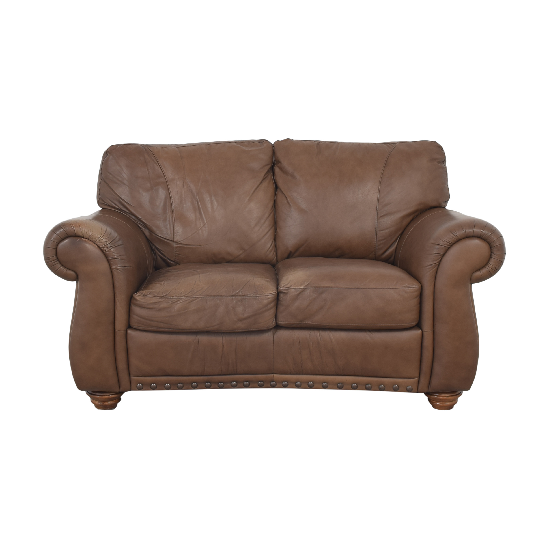 buy Natuzzi Two Cushion Roll Arm Sofa Natuzzi