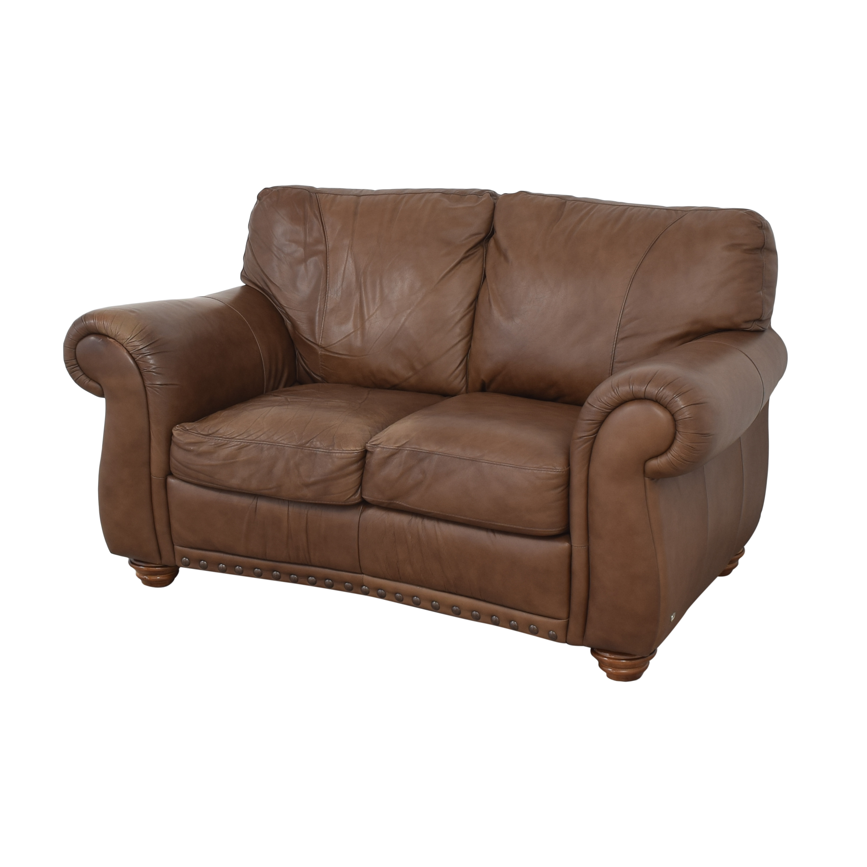 shop Natuzzi Two Cushion Roll Arm Sofa Natuzzi Sofas