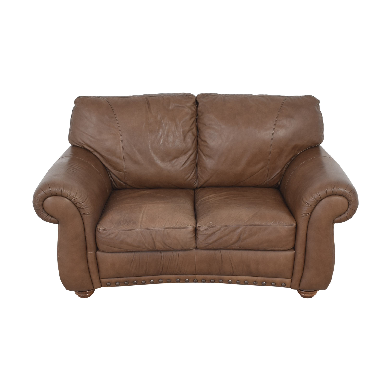 Natuzzi Natuzzi Two Cushion Roll Arm Sofa dimensions