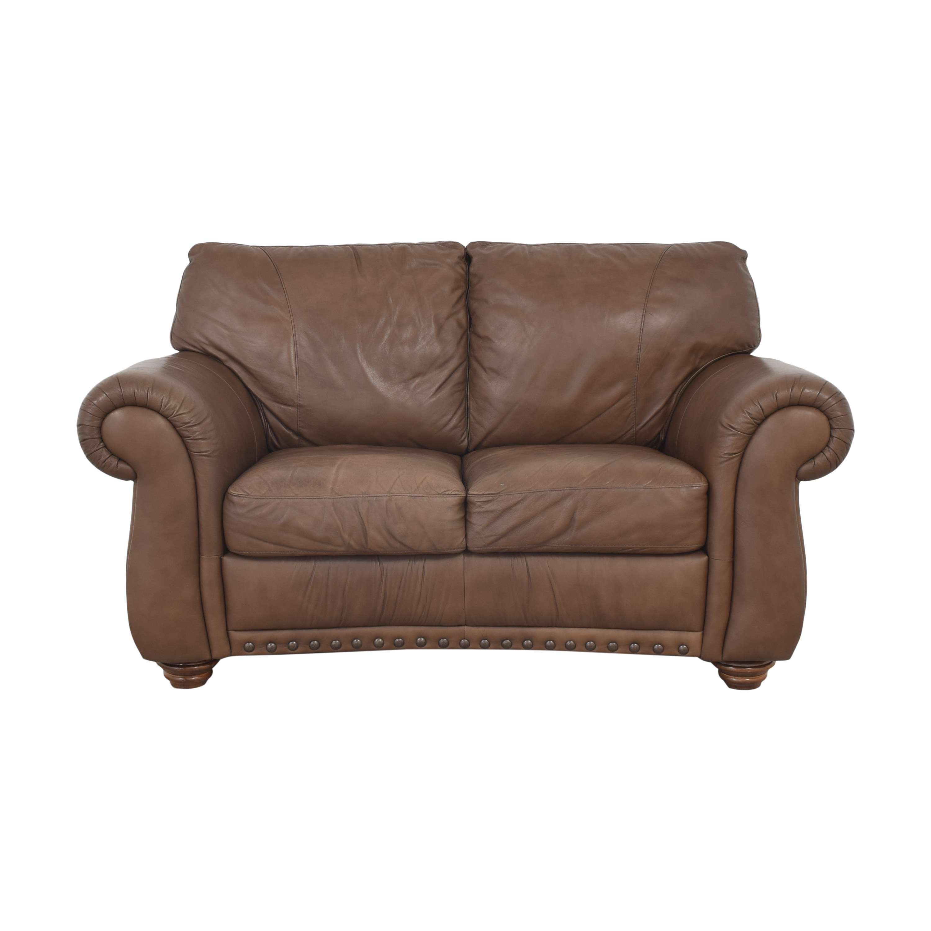 shop Natuzzi Two Cushion Roll Arm Sofa Natuzzi