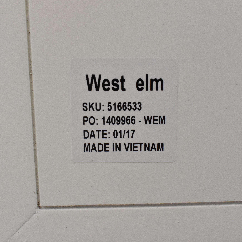 West Elm Mid-Century Wide Tower Bookshelf / Storage
