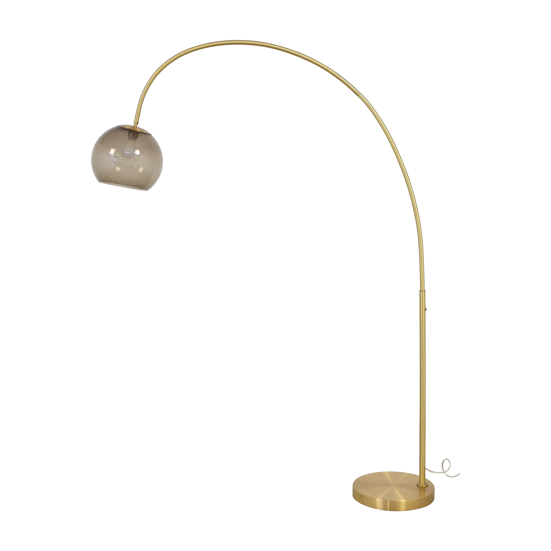 shop West Elm Overarching Acrylic Shade Floor Lamp West Elm
