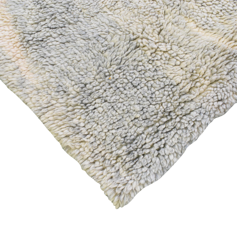 West Elm West Elm Marble Wool Shag Area Rug ma