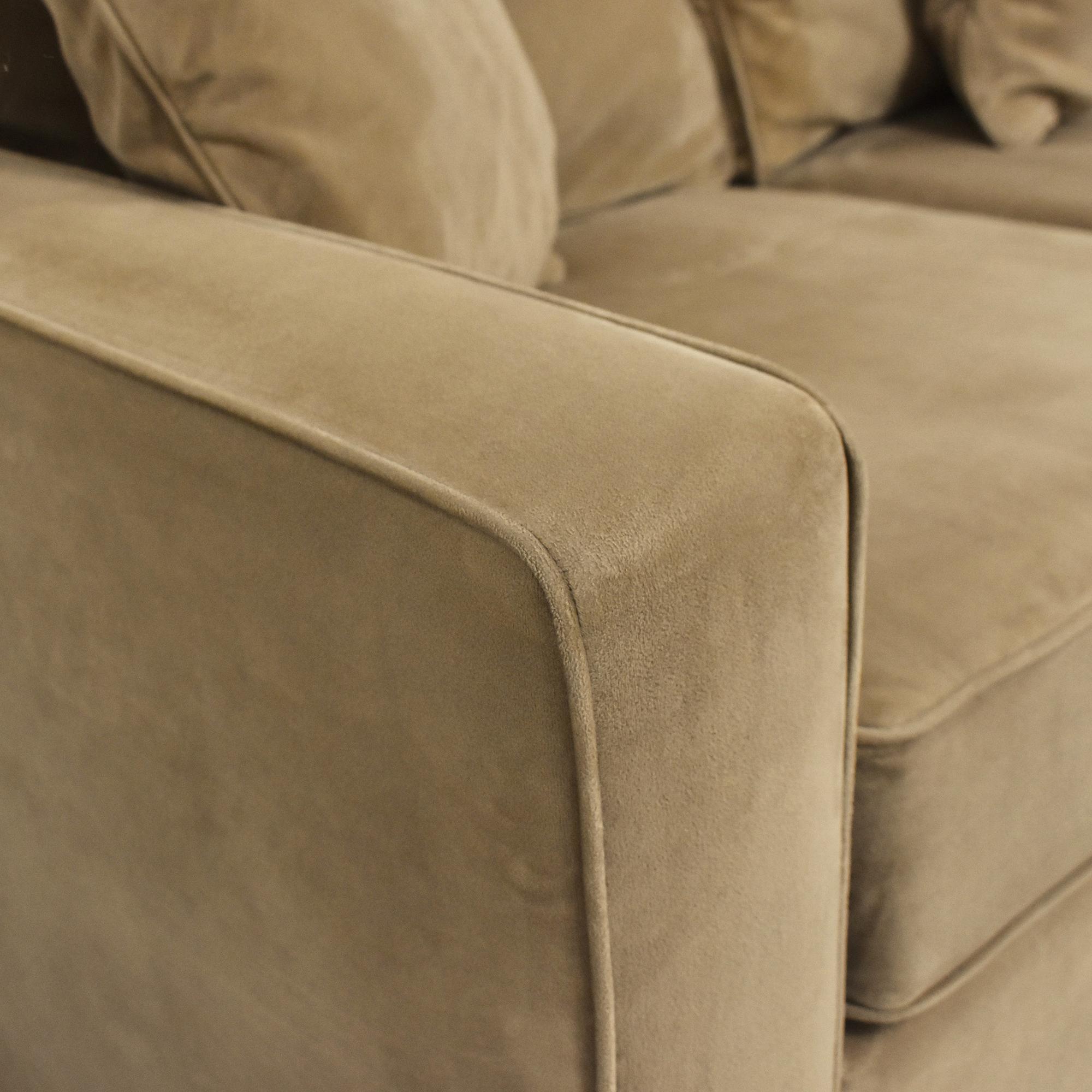 Macy's Macy's Jonathan Louis Corner Sectional Sofa tan