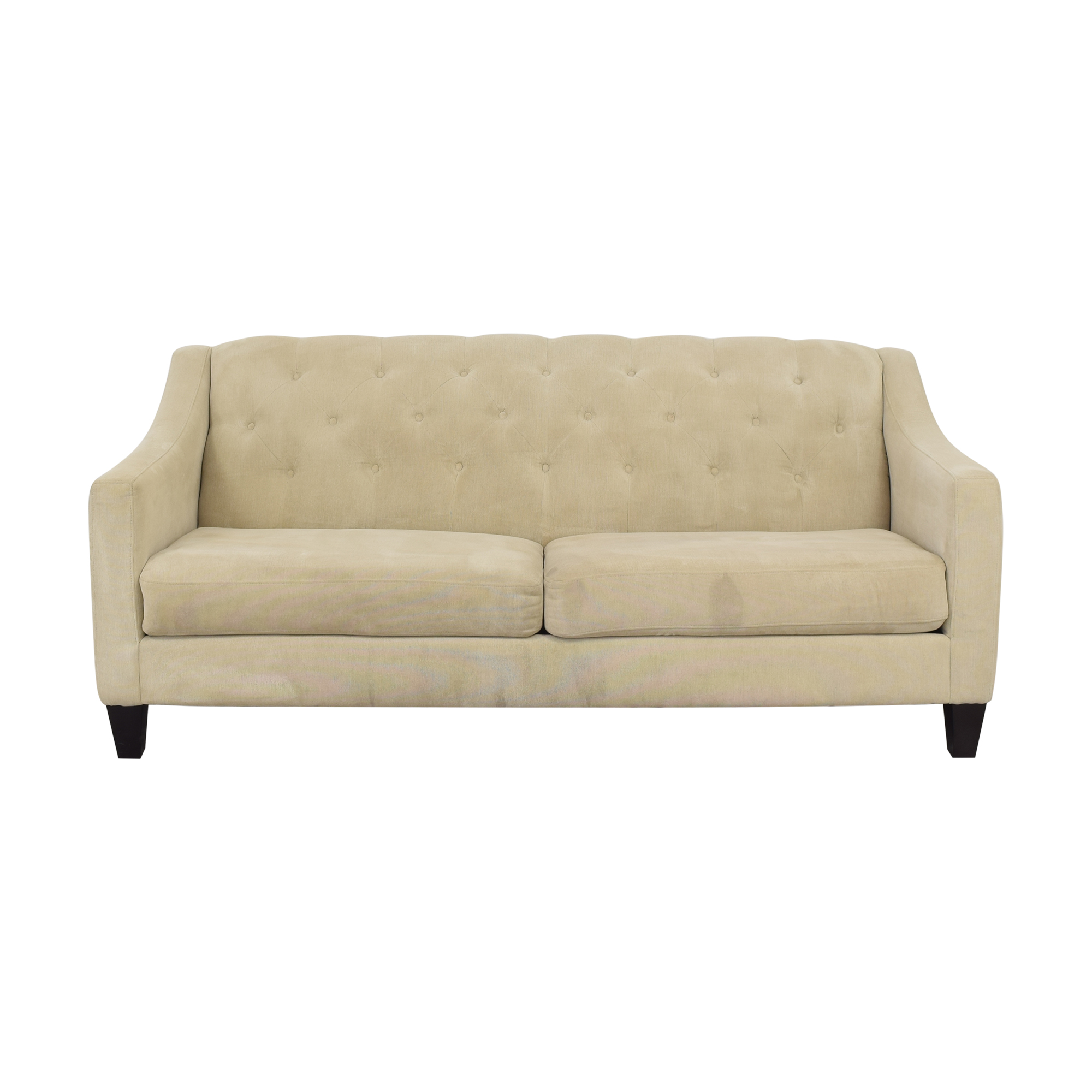 shop Raymour & Flanigan Chic Beige Sofa Raymour & Flanigan Classic Sofas