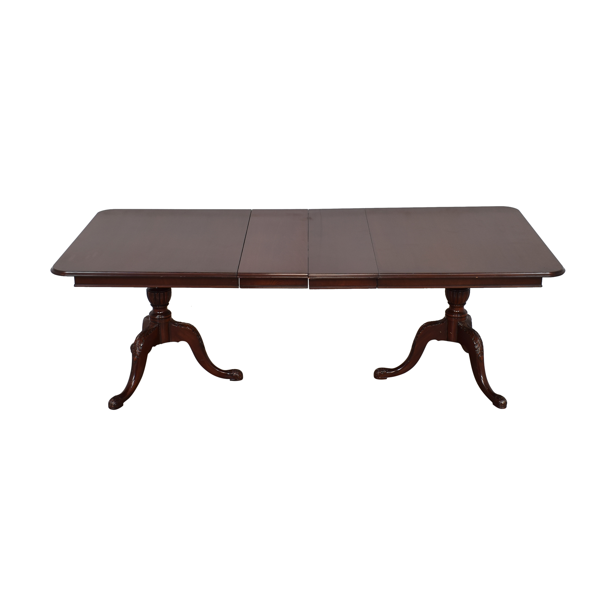 shop Vintage Two Pedestal Extending Dining Table