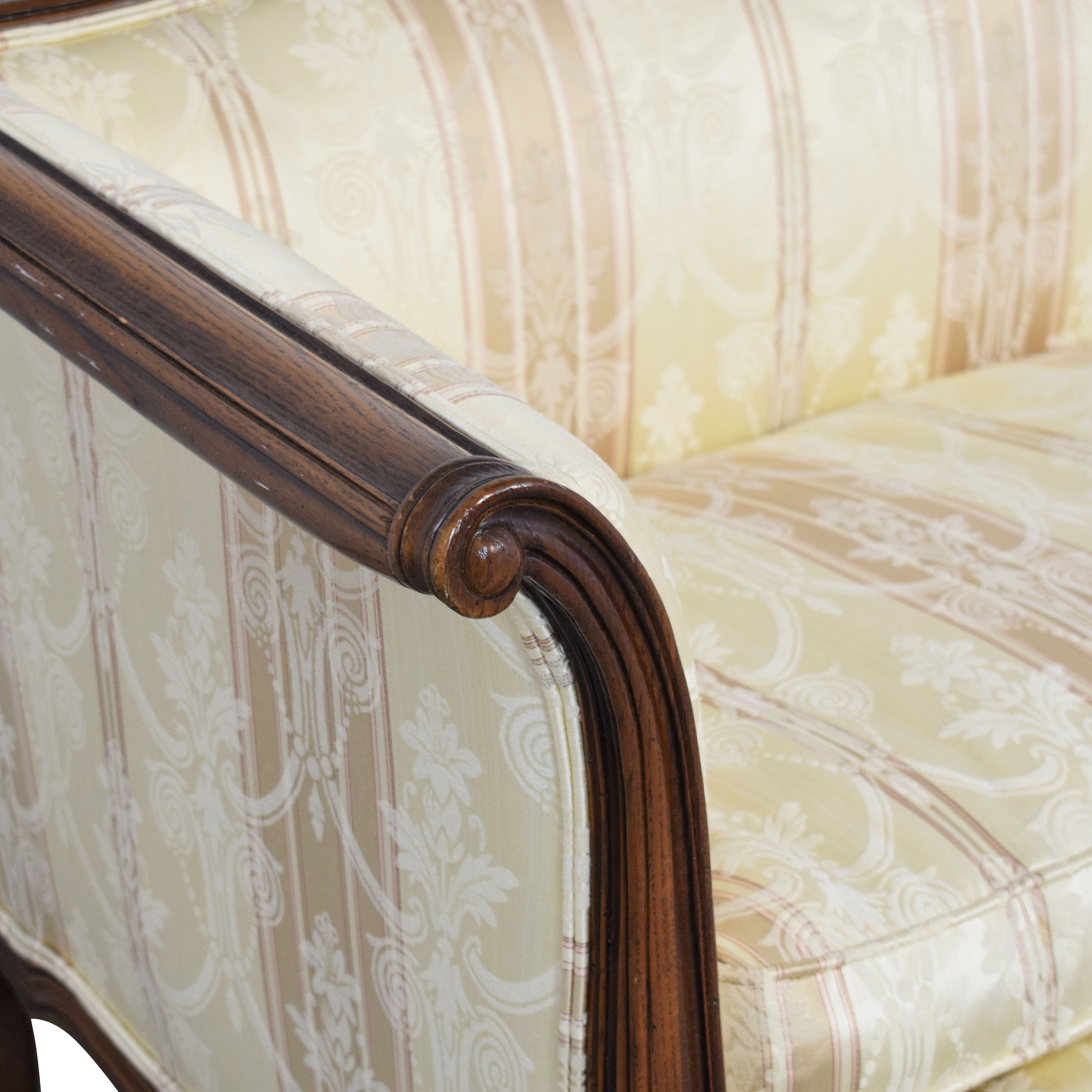 Century Furniture Century Furniture Sofa with Carved Legs and Trim