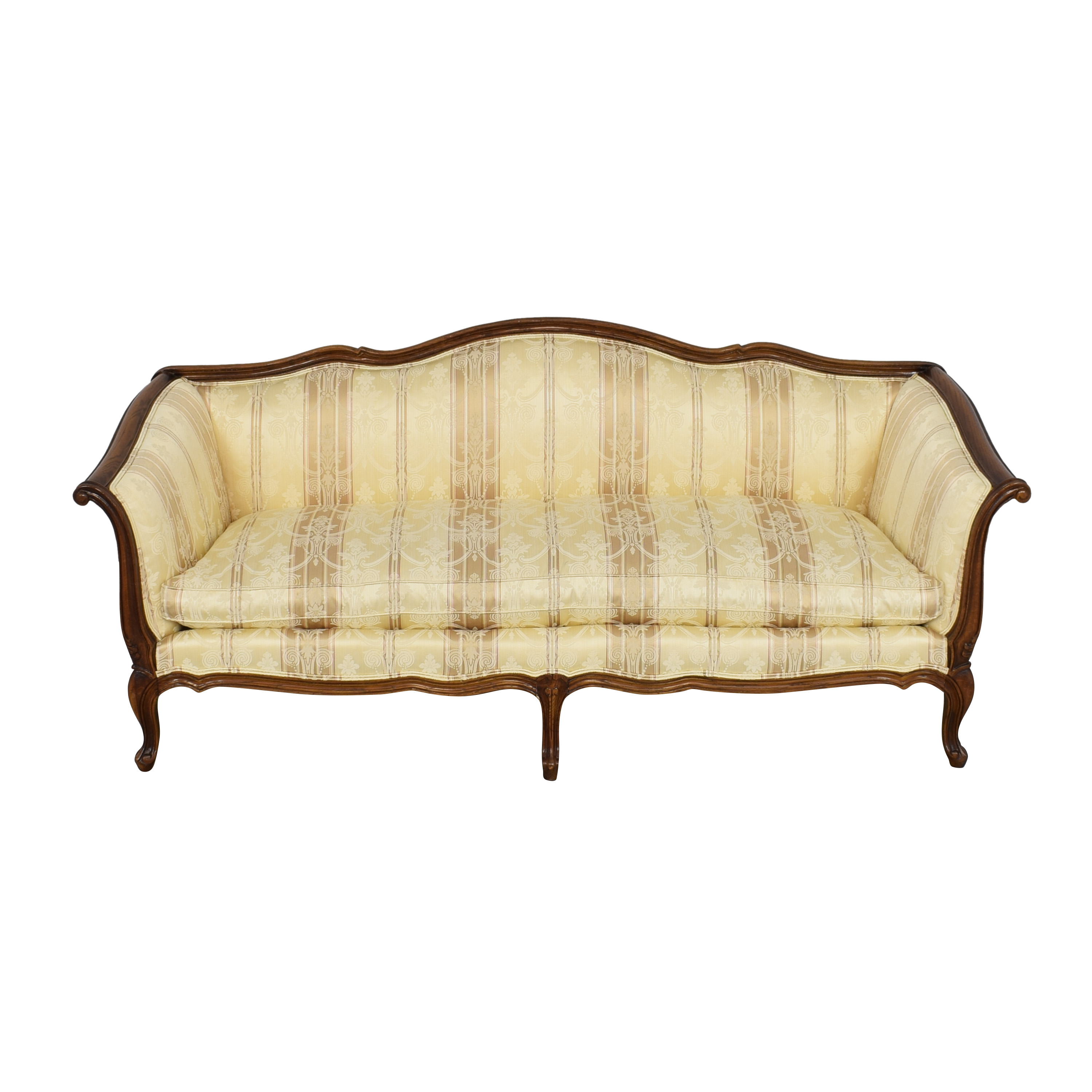 Century Furniture Century Furniture Sofa with Carved Legs and Trim on sale