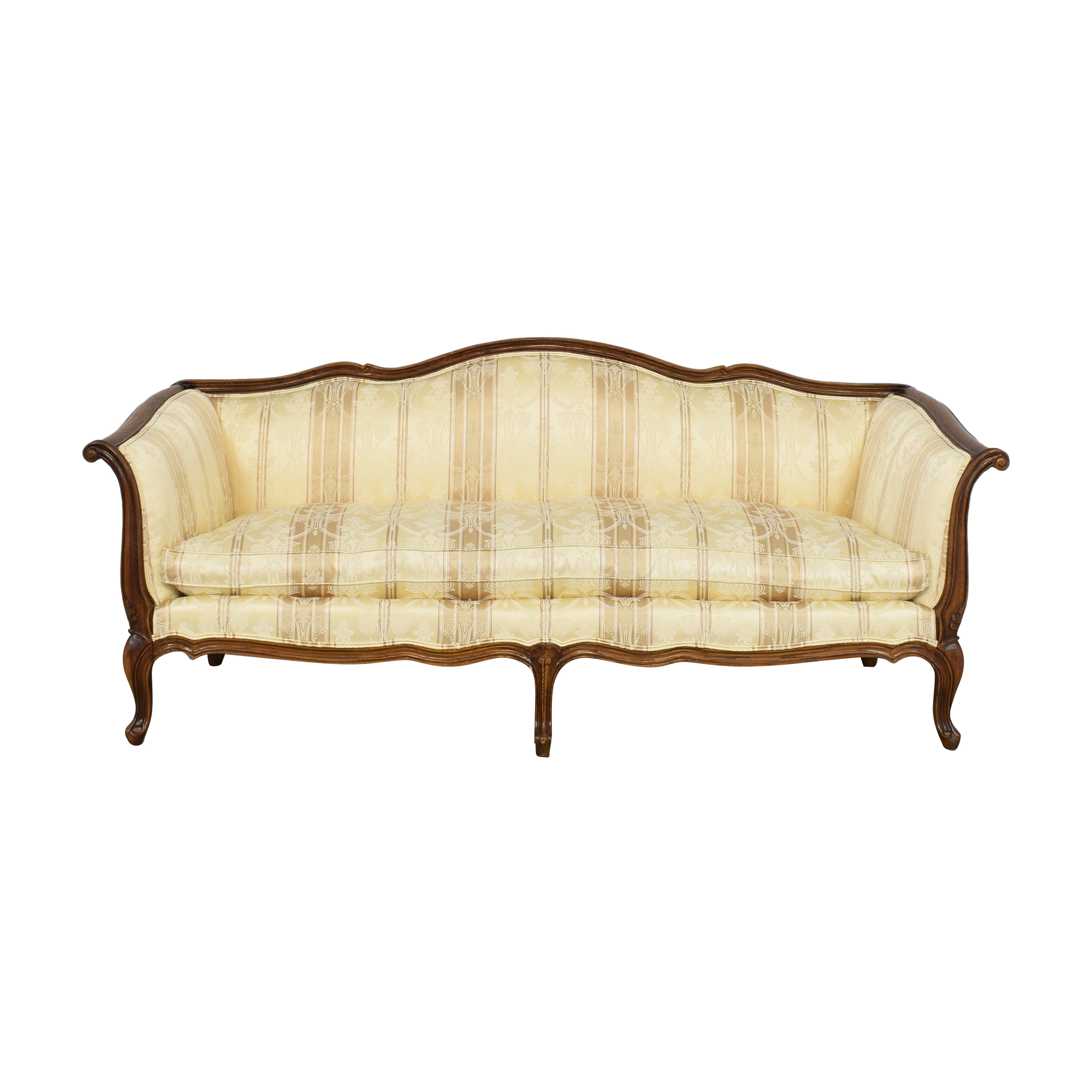 Century Furniture Century Furniture Sofa with Carved Legs and Trim pa