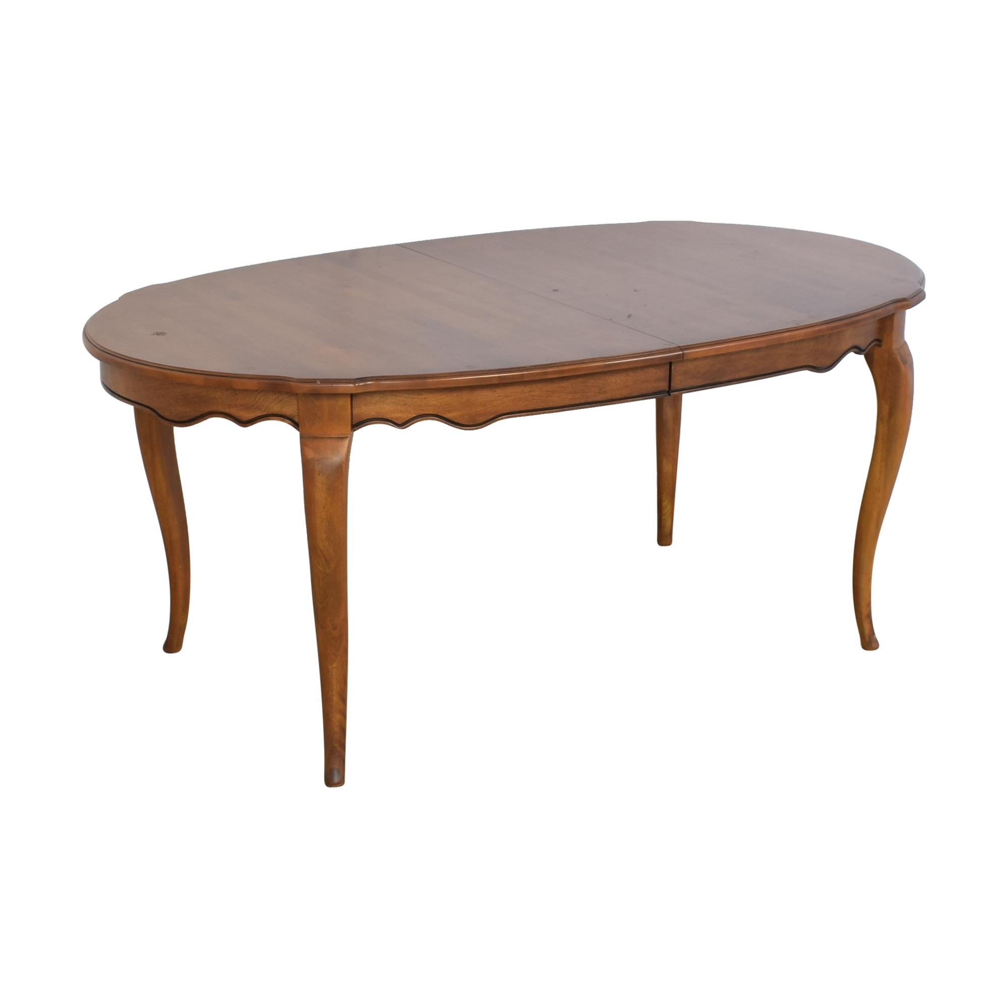 Ethan Allen Ethan Allen Extendable Dining Table Brown