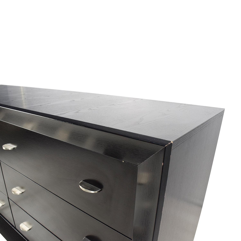 buy Black Sheen 6-Drawer Dresser online